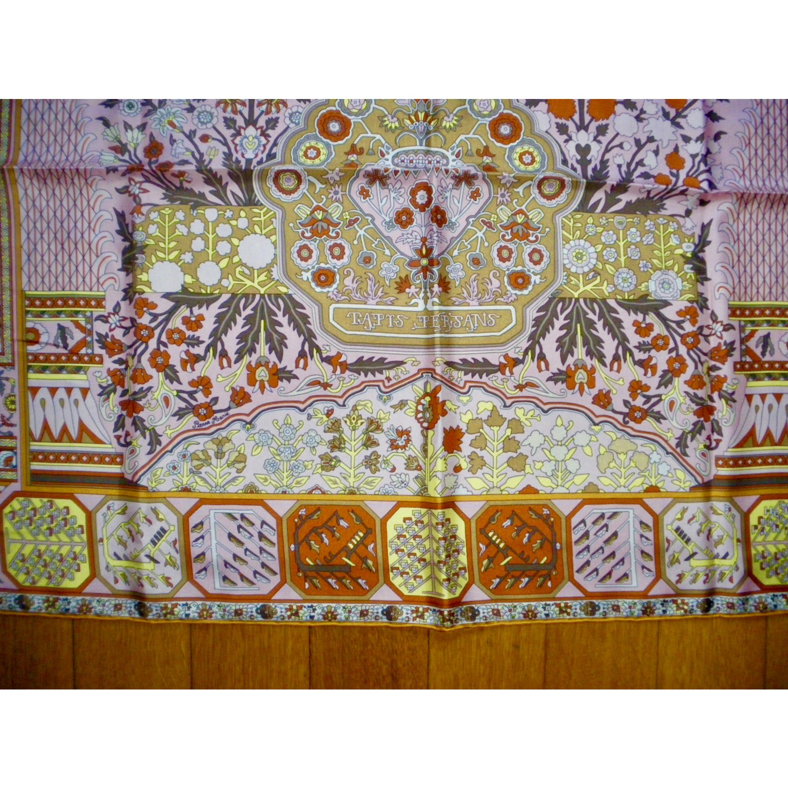 carr s herm s tapis persans soie multicolore joli closet. Black Bedroom Furniture Sets. Home Design Ideas