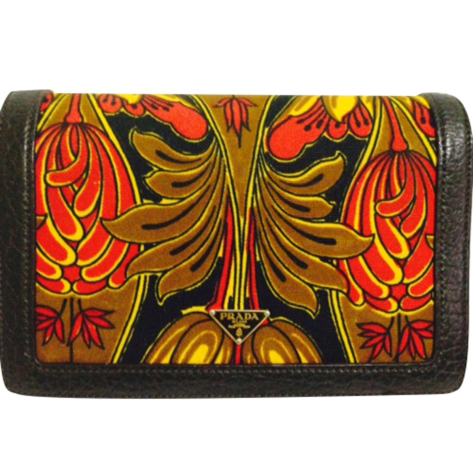 ... nylon tote bag in black 3256b 1462d ... Prada BN0956 CANAPA TULIPANO  ROSSO+EBANO Handbags Cloth Multiple colors ref.42233 - Joli ... ebd91a27f6