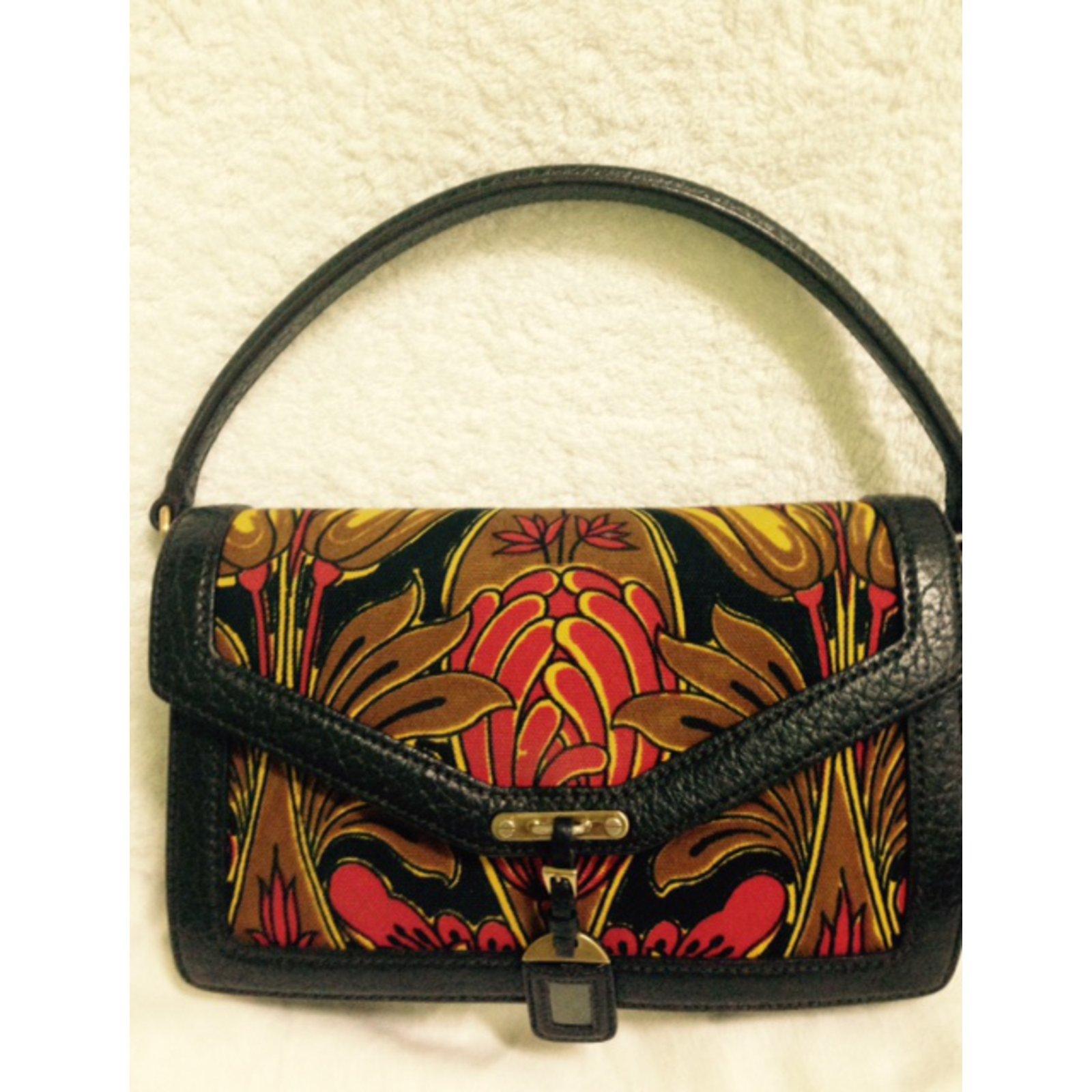 ... tote bag Handbags nylon Black ref.76590 - Joli C buy online 837eb  Prada  BN0956 CANAPA TULIPANO ROSSO+EBANO Handbags Cloth Multiple colors ref.42233  - ... 03763fab08