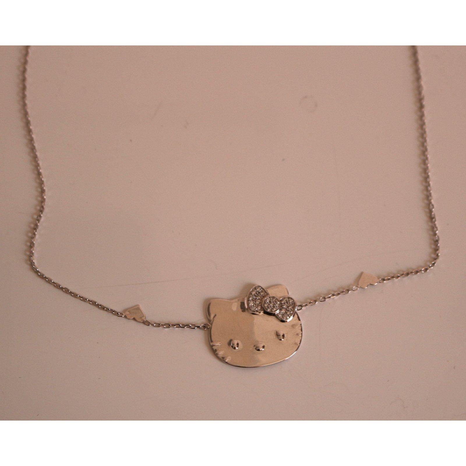 94c32fc61 Victoria Casal Hello Kitty Jewelry White gold Silvery ref.42432 - Joli  Closet