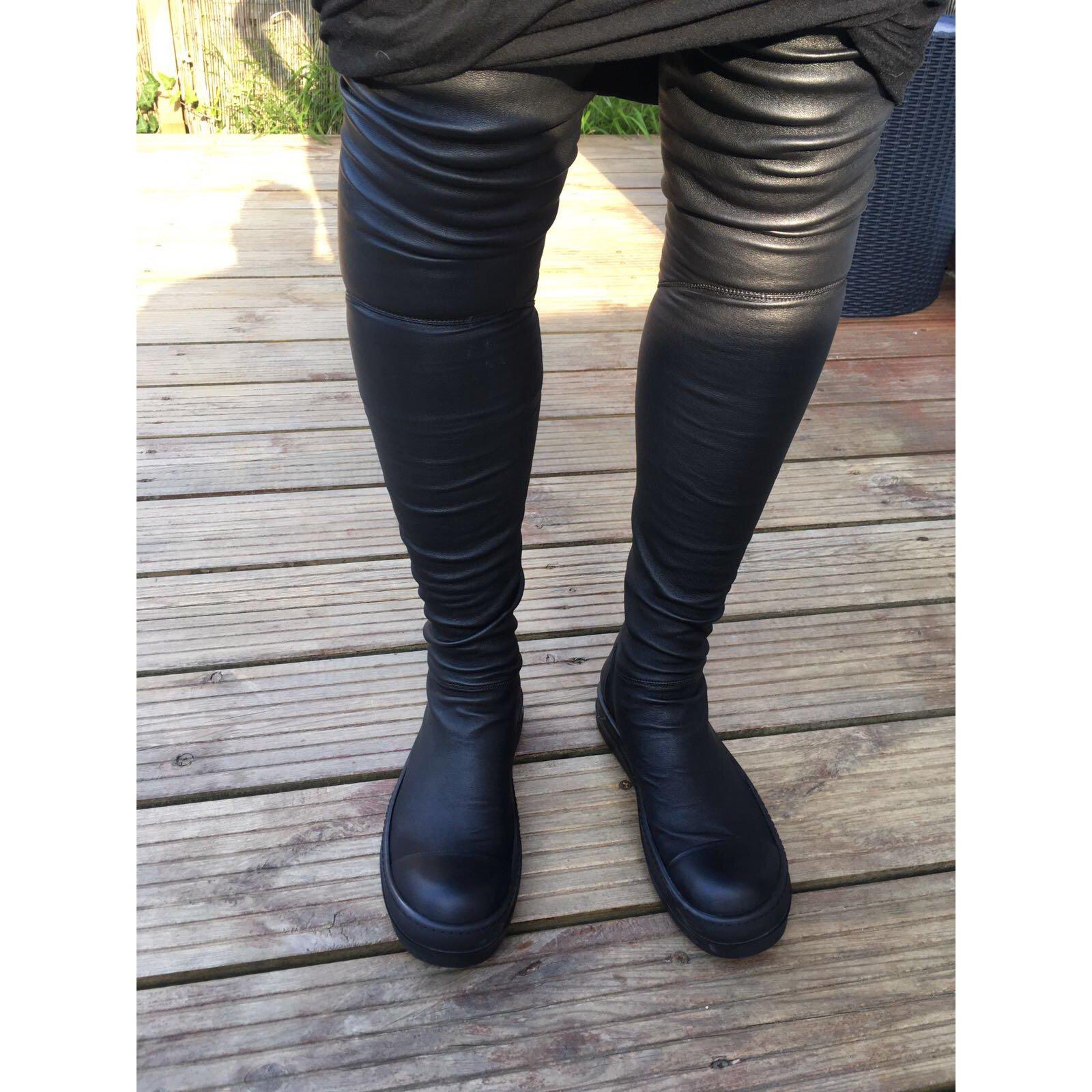 Rick Owens Thigh high sneaker boots