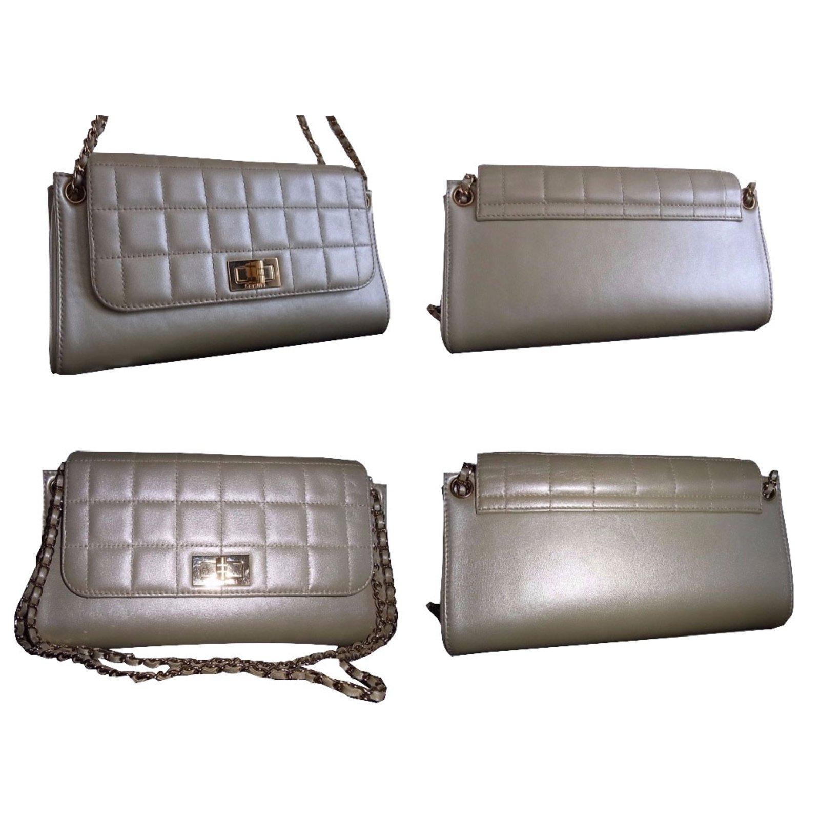 db9e60b6000a Chanel classique accordion chocolate bar Handbags Leather Golden ref.42745  - Joli Closet
