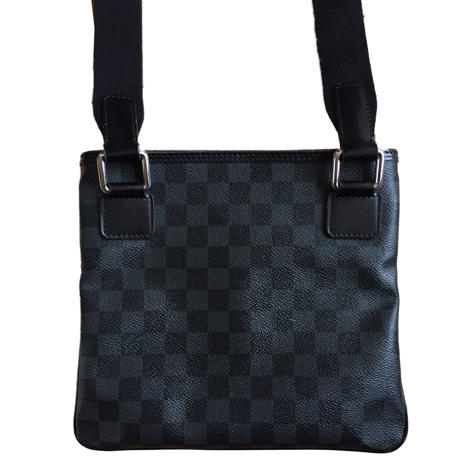 04dfcd7eed61 Sacs Louis Vuitton Pochette Homme Louis Vuitton Damier Cuir,Toile Noir  ref.42963 - Joli Closet