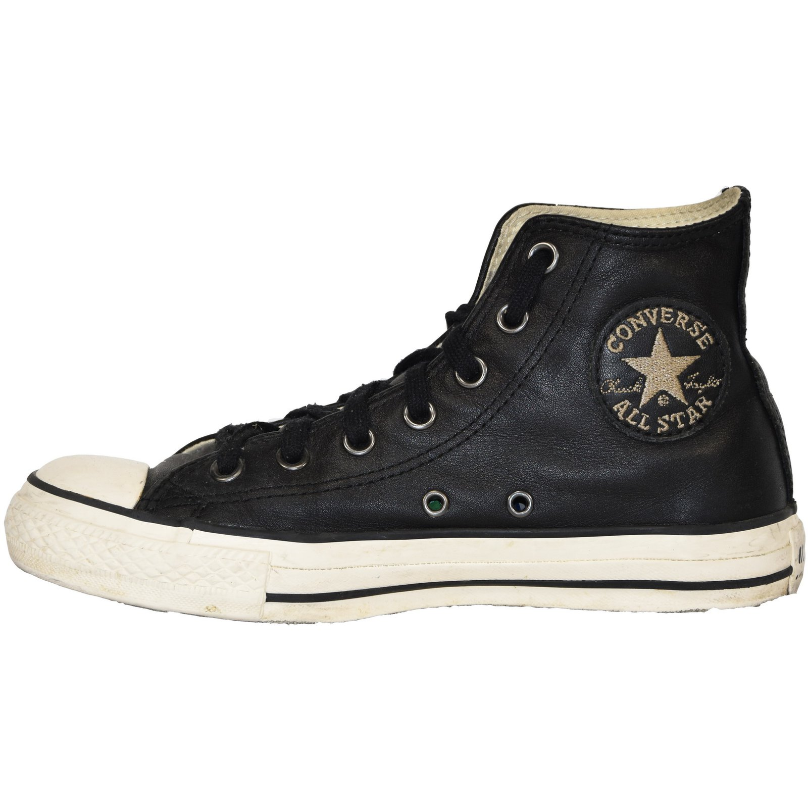 CONVERSE ALL STAR CHUCK TAYLOR HI CUIR NOIR T.38 UK 5.5