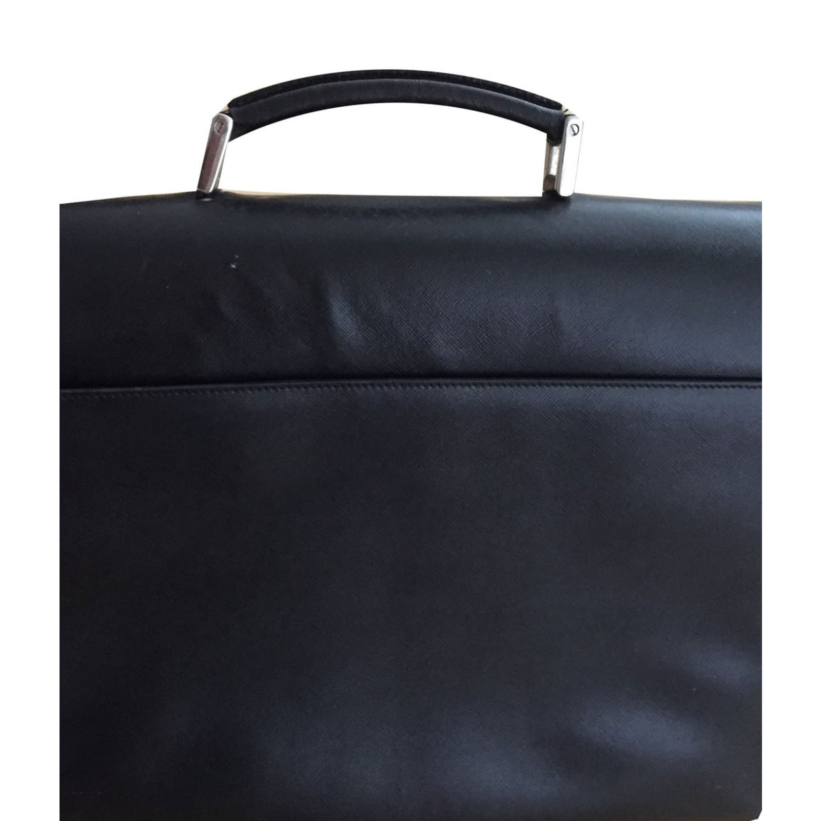 e76fbbd3ea8e Prada Leather Briefcase Bags Briefcases Leather Black ref.43383 ...