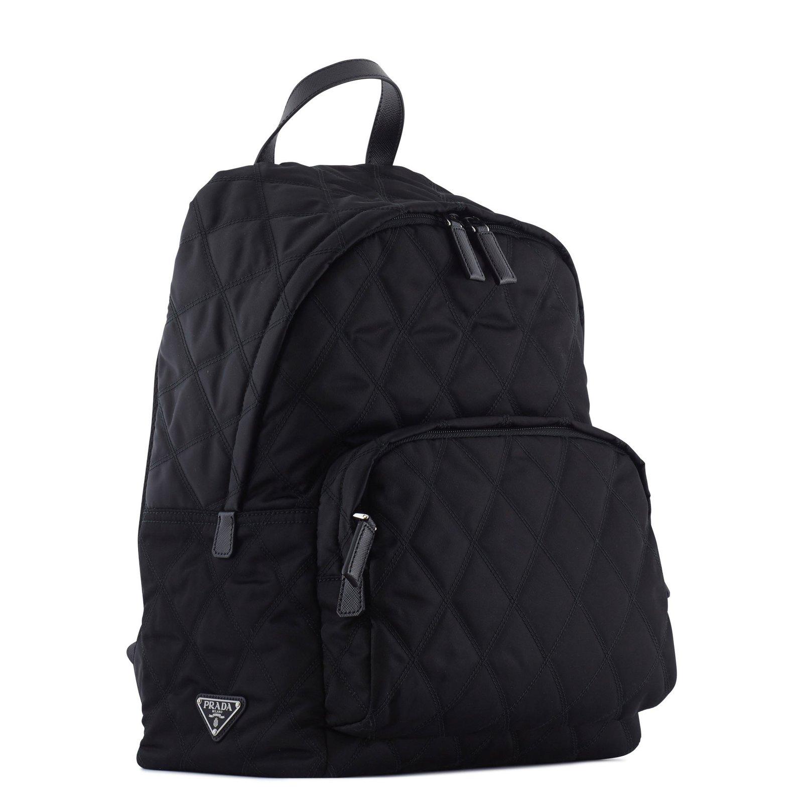 f8de13fce818 Prada Prada quilted backpack Backpacks Nylon Black ref.43492 - Joli Closet