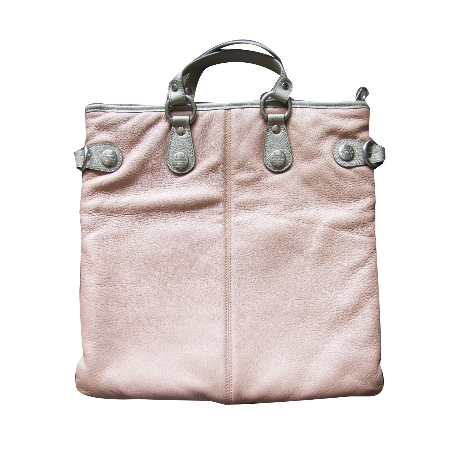 b3dbc40030 Hogan Hogan  Trend Media  bag Handbags Leather Silvery