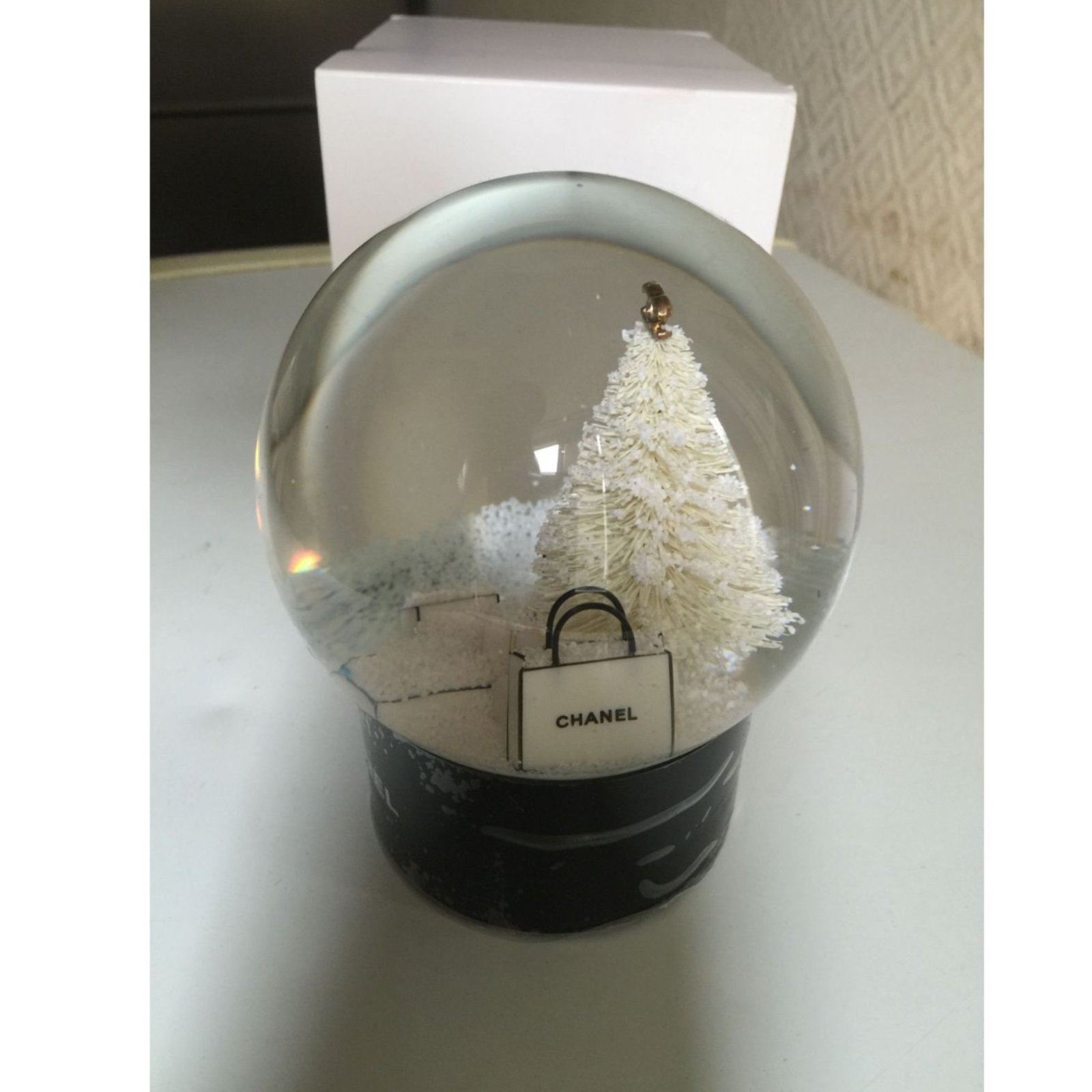 petite maroquinerie chanel boule neige autre noir ref. Black Bedroom Furniture Sets. Home Design Ideas