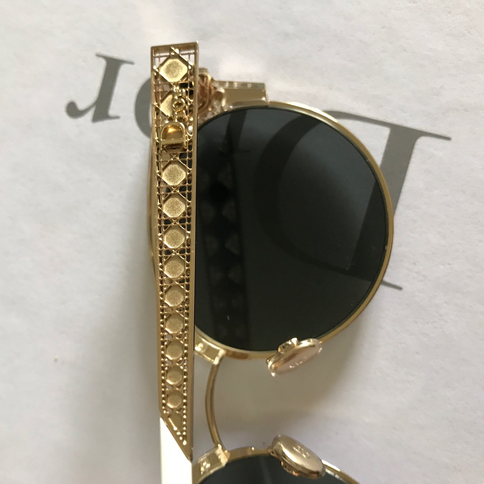 804d29c336 Christian Dior Dior diorama mini Sunglasses Metal Golden ref.45520 - Joli  Closet