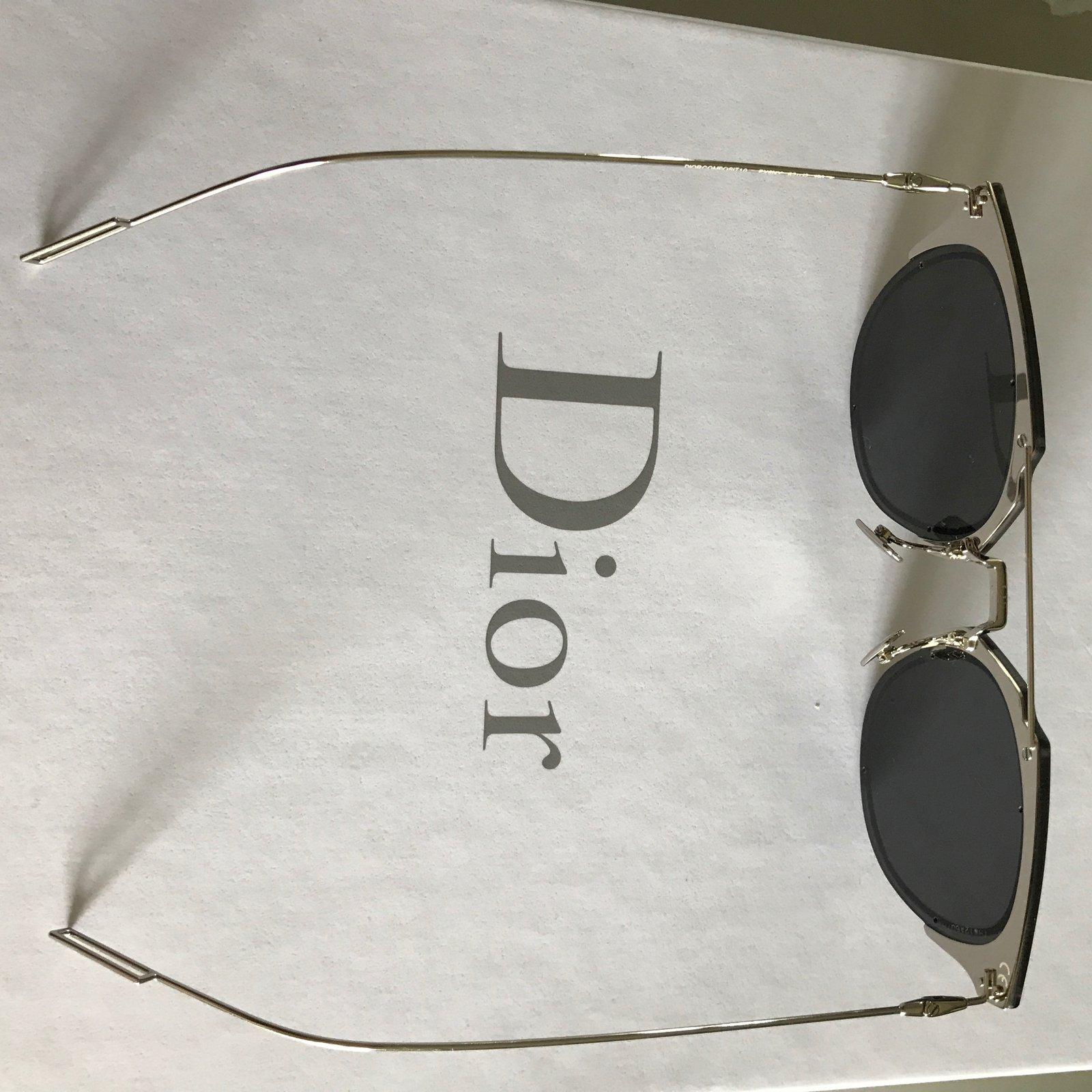 a24a1d3094d9 Christian Dior Dior composit 1 Sunglasses Metal Grey ref.45527 - Joli Closet