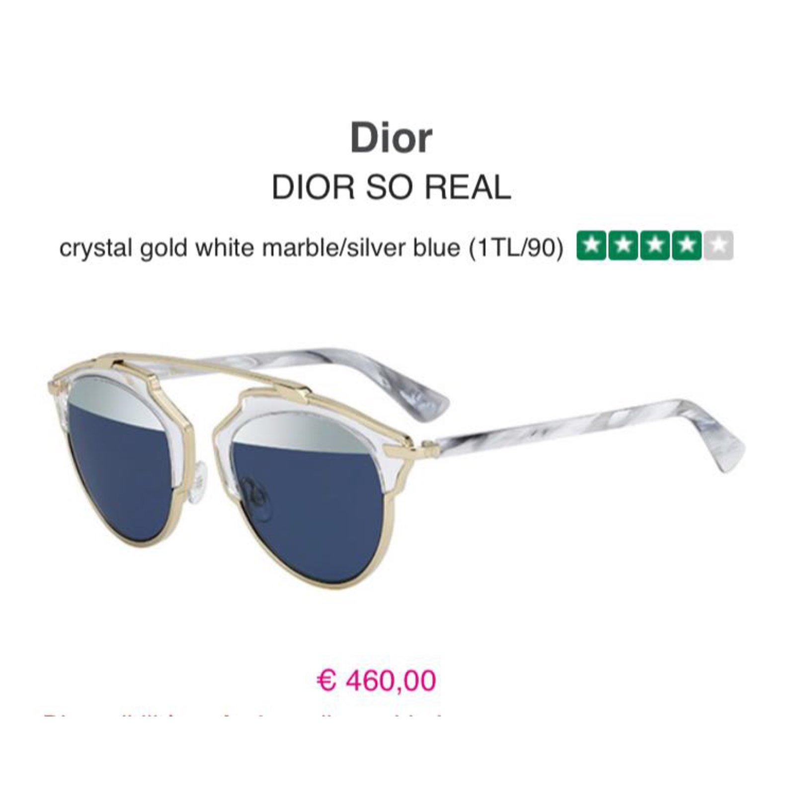 8ec6f159a4cc Christian Dior Dior so real Sunglasses Metal White ref.45535 - Joli Closet