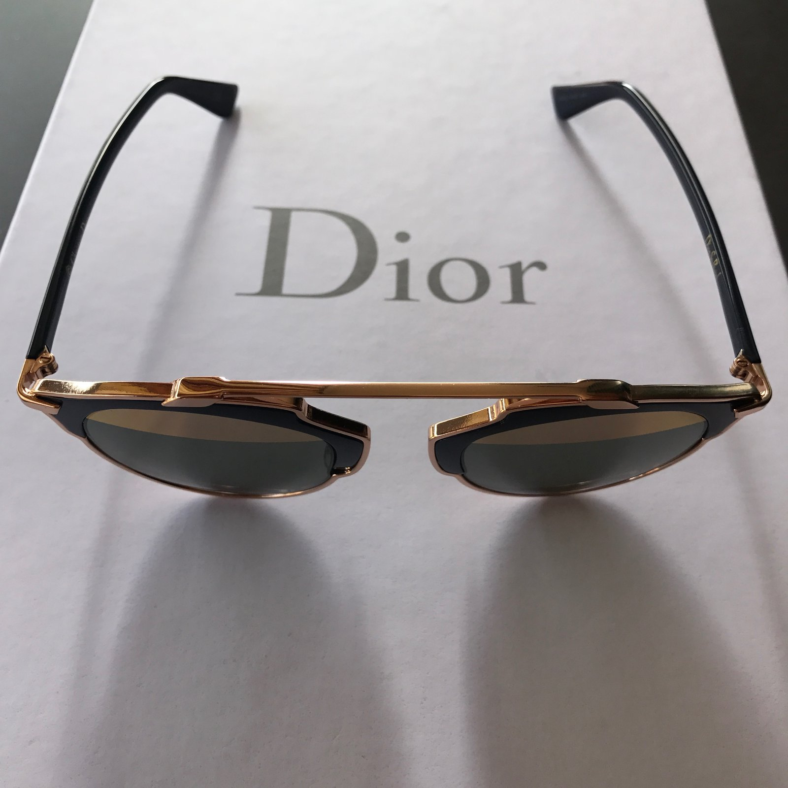 21ea71fae2b7e Christian Dior Dior so real rose gold Sunglasses Metal Blue ref.45538 -  Joli Closet