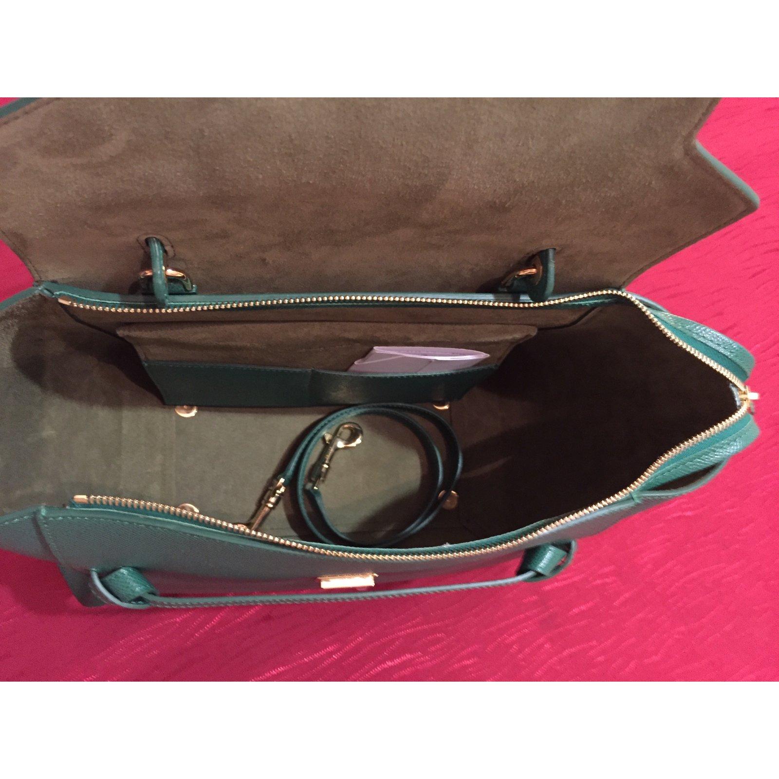 Céline Mini belt Handbags Leather Green ref.45907 - Joli Closet 4a6db5dd6b