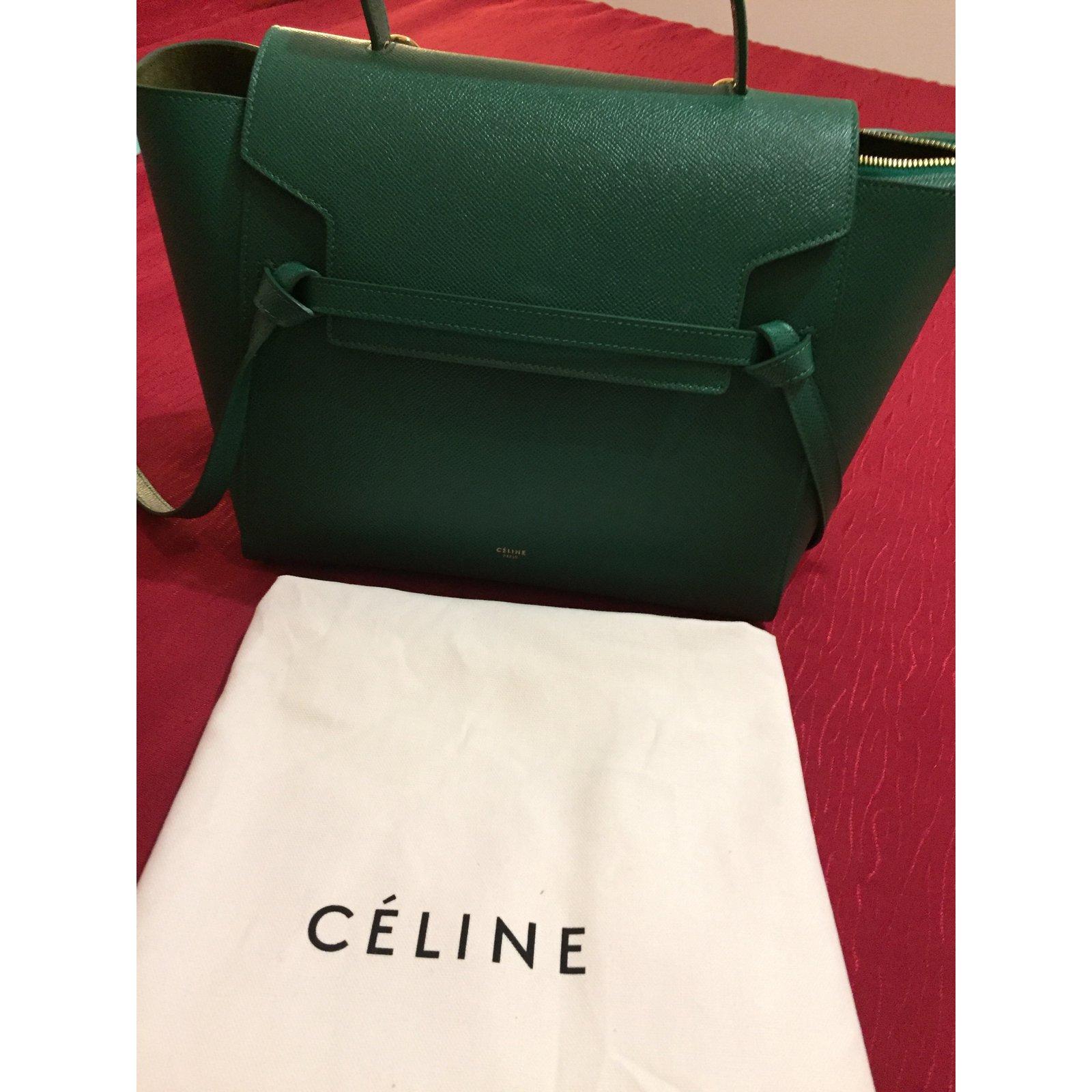 0b0a146d0ed7 Sacs à main Céline Mini belt Cuir Vert ref.45907 - Joli Closet