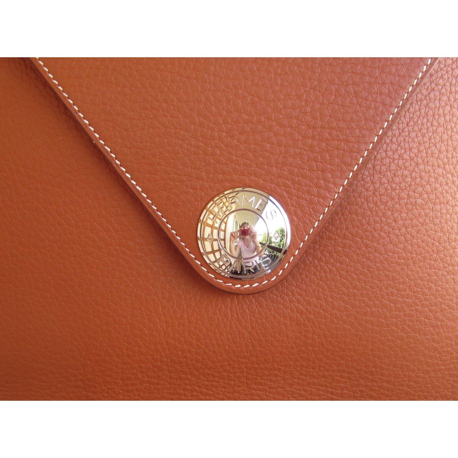 c452d1c0d542 Facebook · Pin This. Hermès Christine 35 cm Handbags Leather Red ...