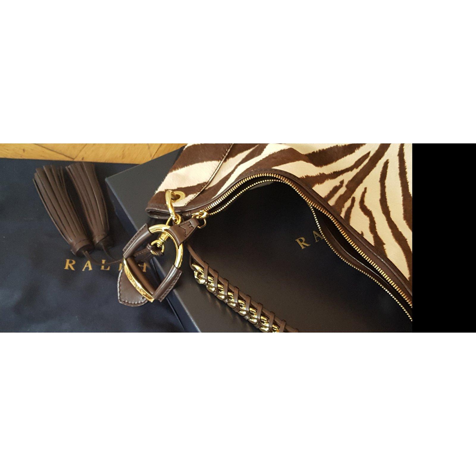 ebdce24428 Ralph Lauren zebra pony Handbags Pony hair Multiple colors ref.46895 - Joli  Closet