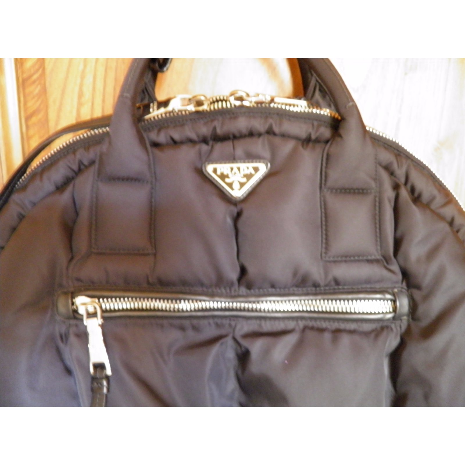 266a105eb31d Prada bowling bomber bag Handbags Other Black ref.47052 - Joli Closet