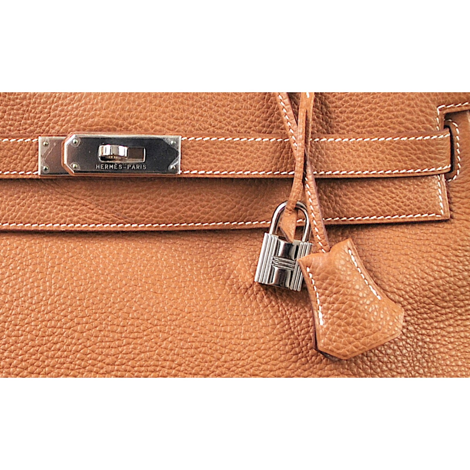5dad0b86d2 Hermès HERMES Kelly 35 cm Togo Gold Handbags Leather Light brown ref.47061  - Joli Closet