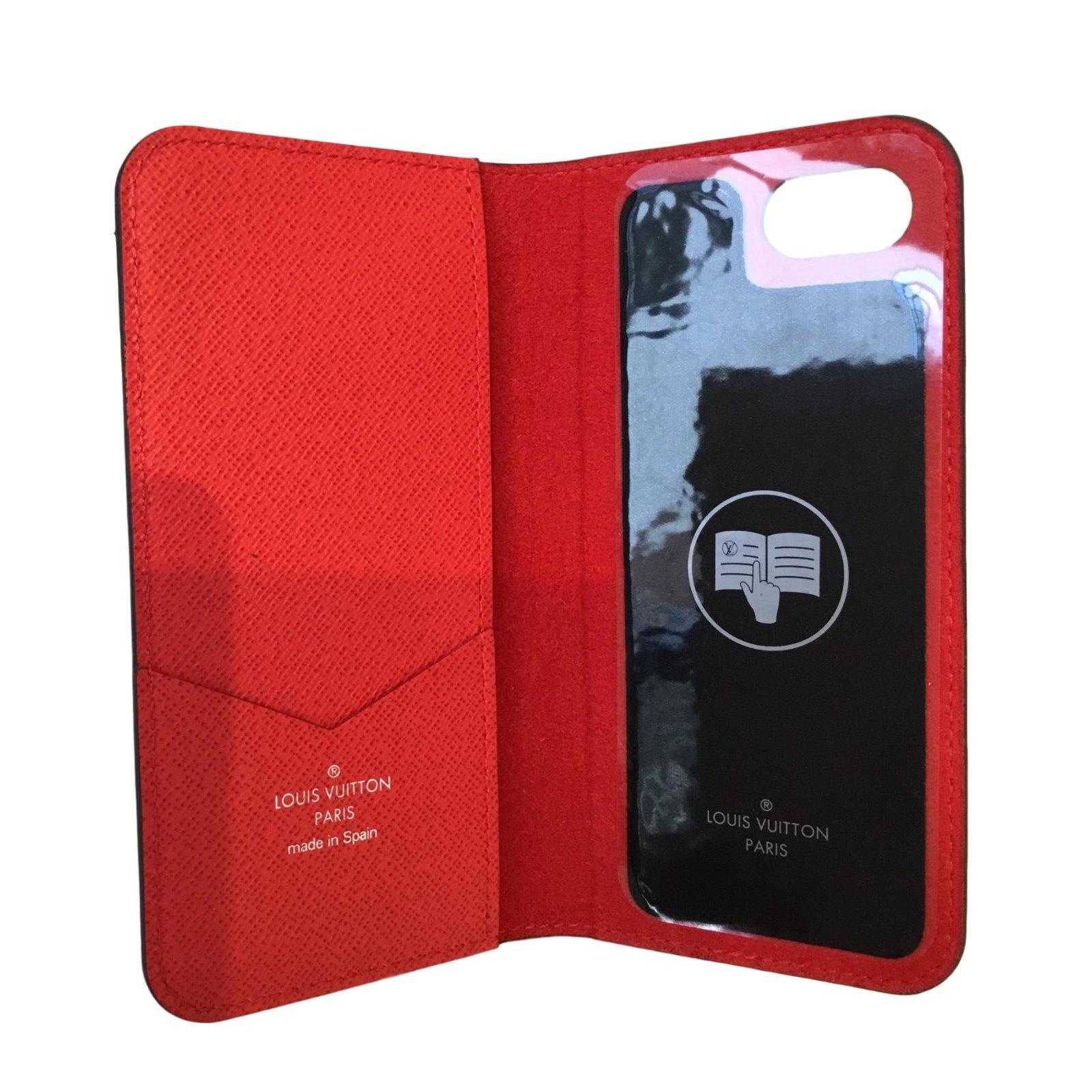 Louis Vuitton X Supreme Wallets Small Accessories Leather Red Ref 47438 Joli Closet