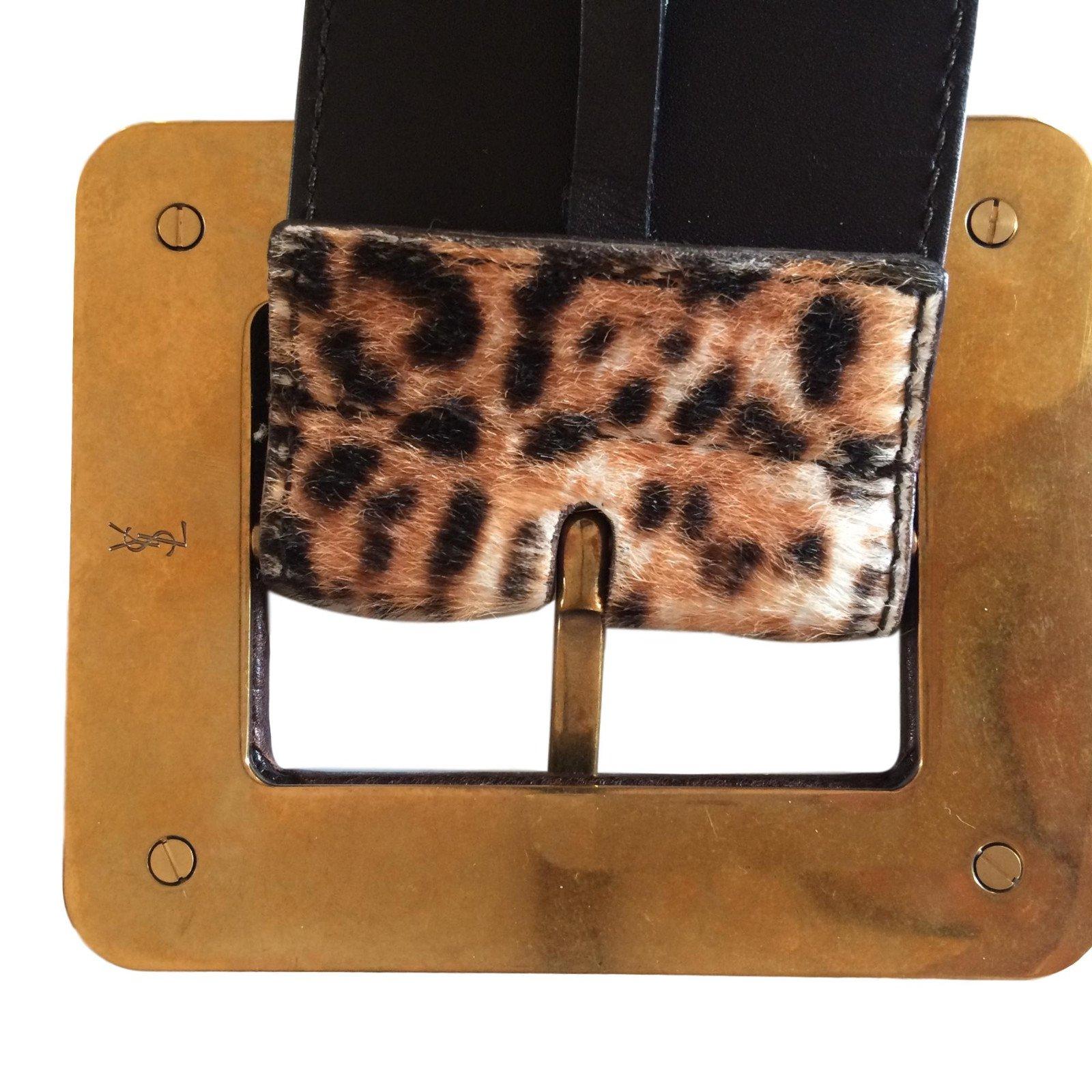 6ce7a8e022c1 Ceintures Yves Saint Laurent Ceinture YSL imprimée léopard Cuir Imprimé  léopard ref.47959 - Joli Closet