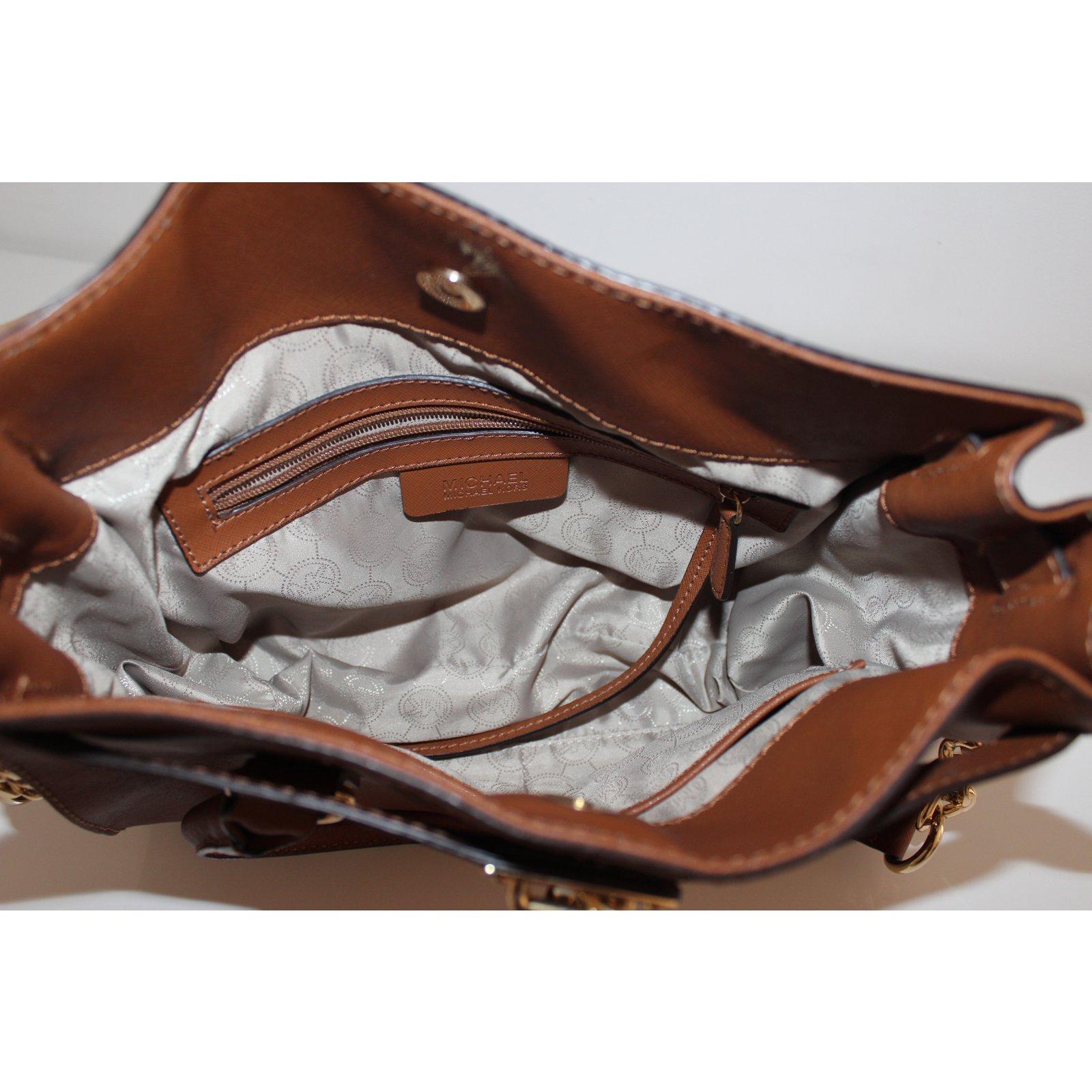 2de38c703983 Michael Kors HAMILTON Handbags Leather Caramel ref.48117 - Joli Closet