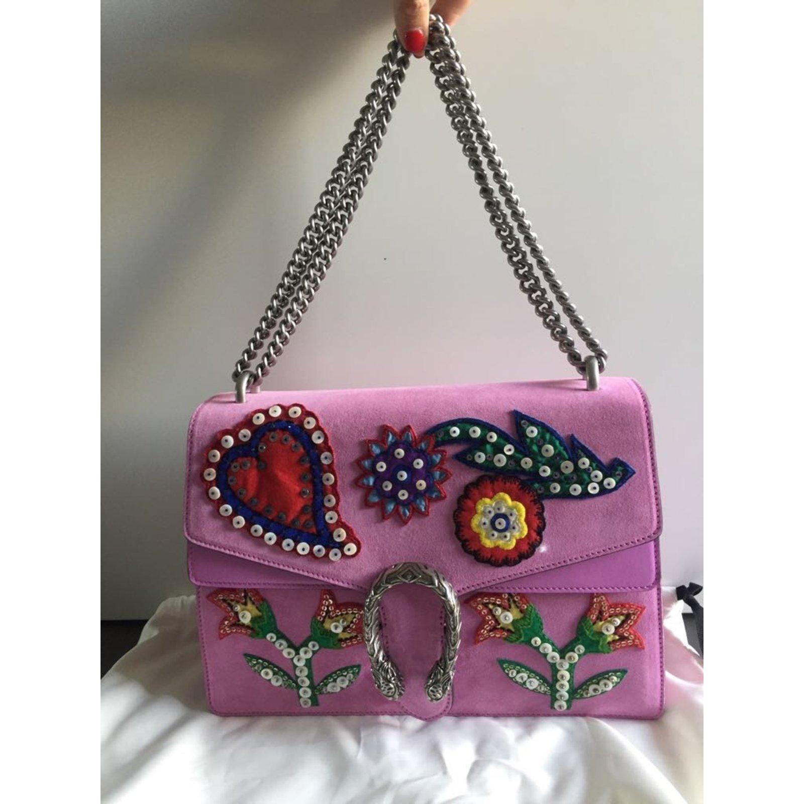 1a303650fad28 Gucci gucci dionysus Handbags Suede Pink ref.48205 - Joli Closet