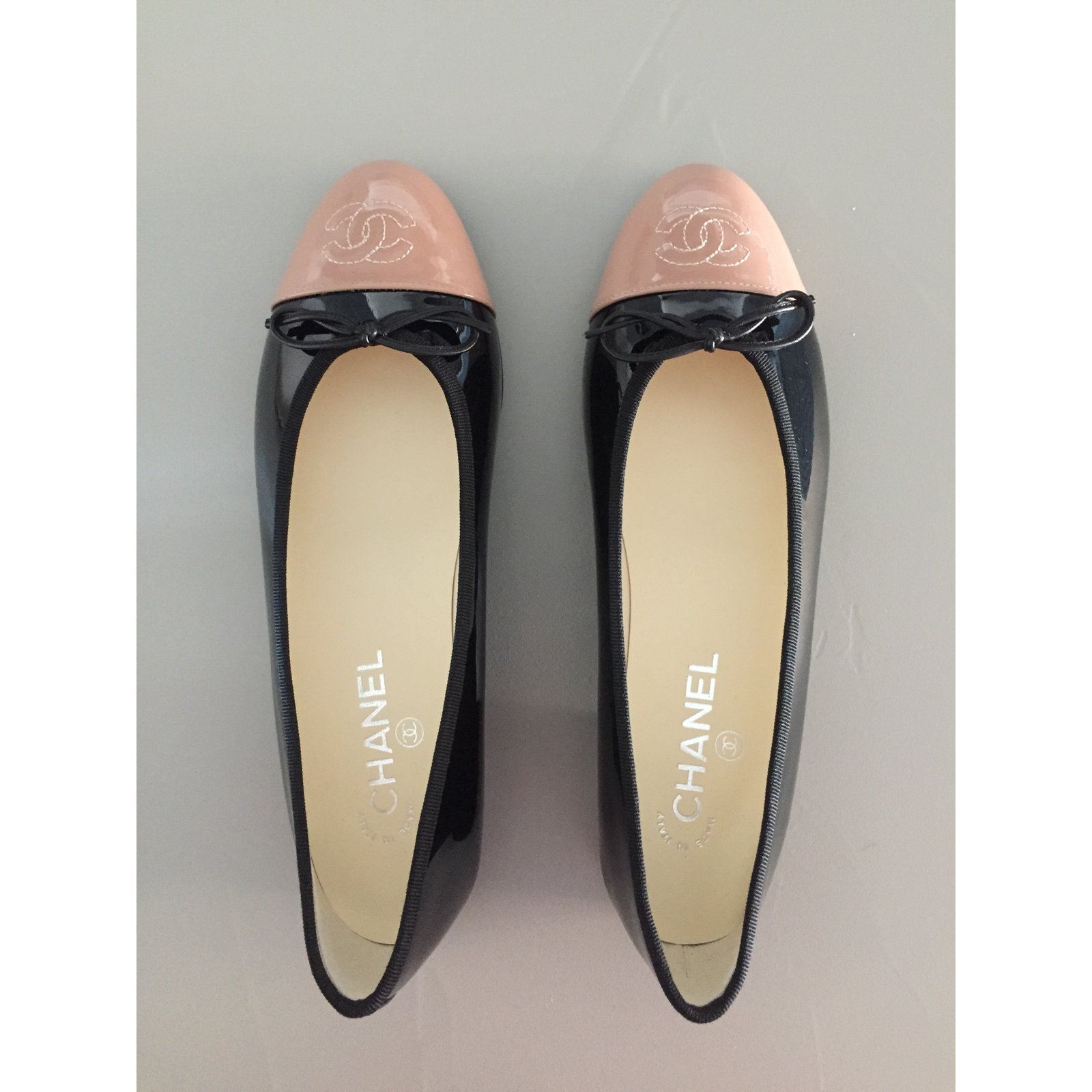 8f7d66d61899 Facebook · Pin This. Chanel Ballerinas Flats Patent leather Black ref.48406
