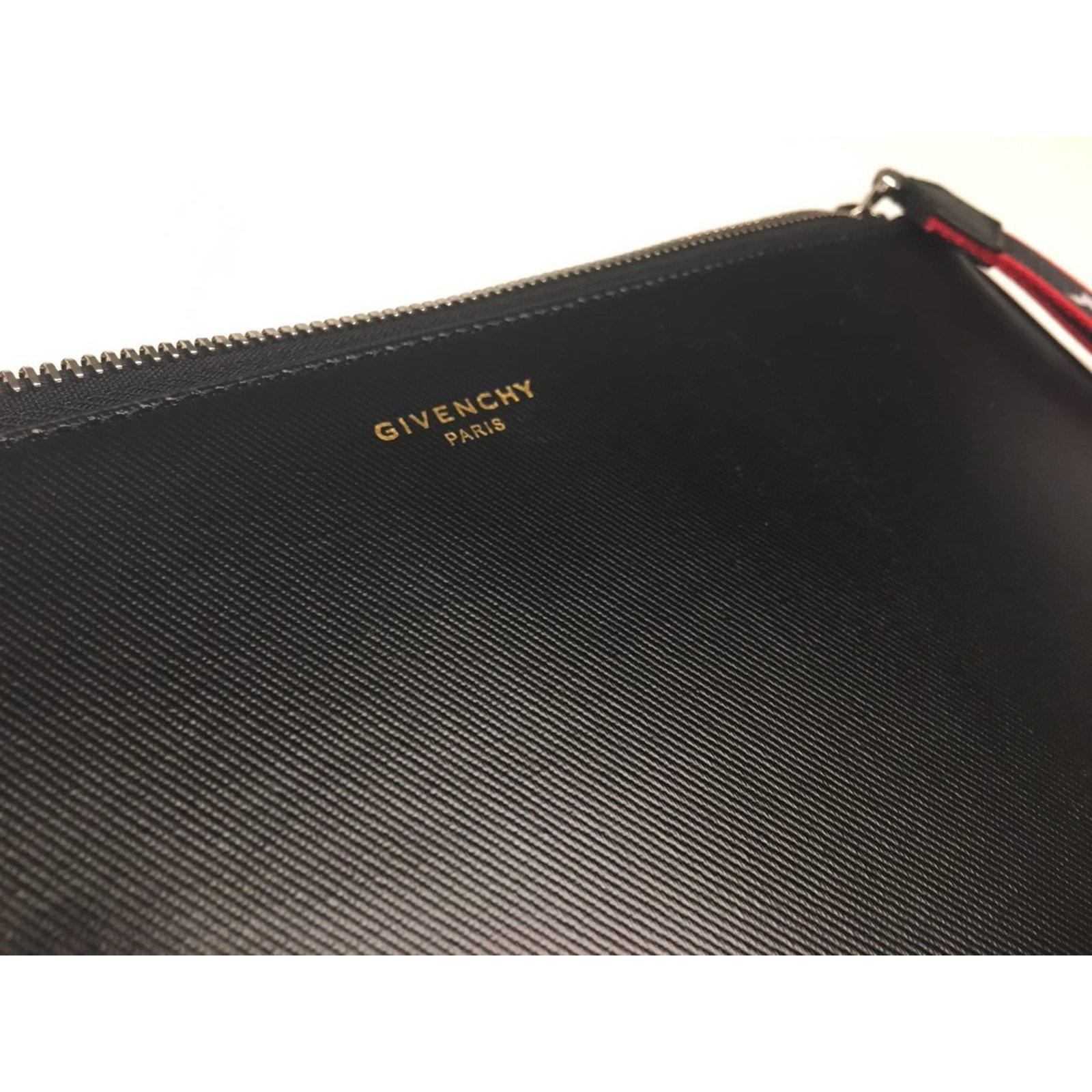 Givenchy Givenchy Clutch Pouch Bag Clutch bags Cotton Black ref.48742 -  Joli Closet ea287f2df81fa