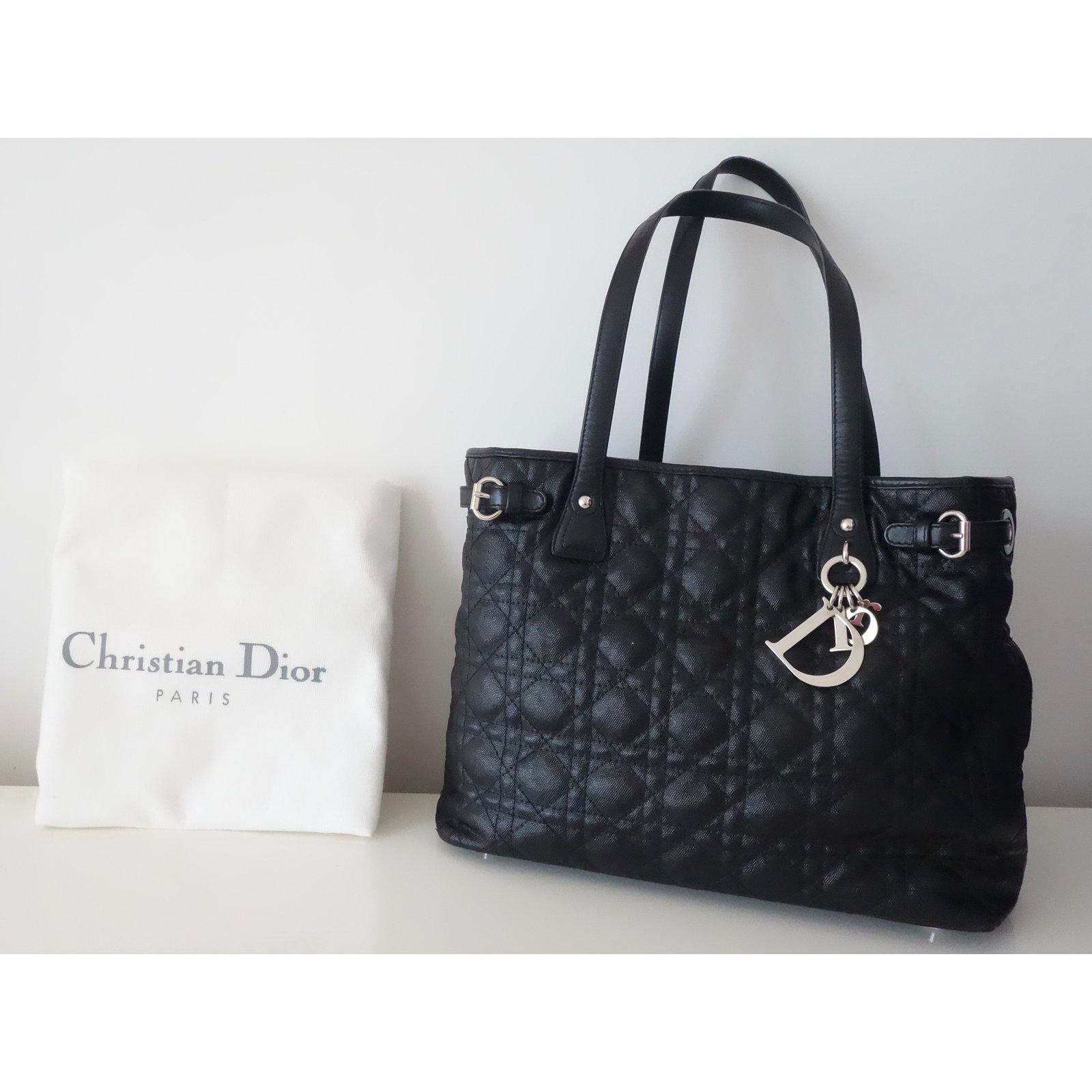 Sacs à main Christian Dior SAC DIOR PANAREA NOIR Toile Noir ref.48766 -  Joli Closet 3831078a5b1