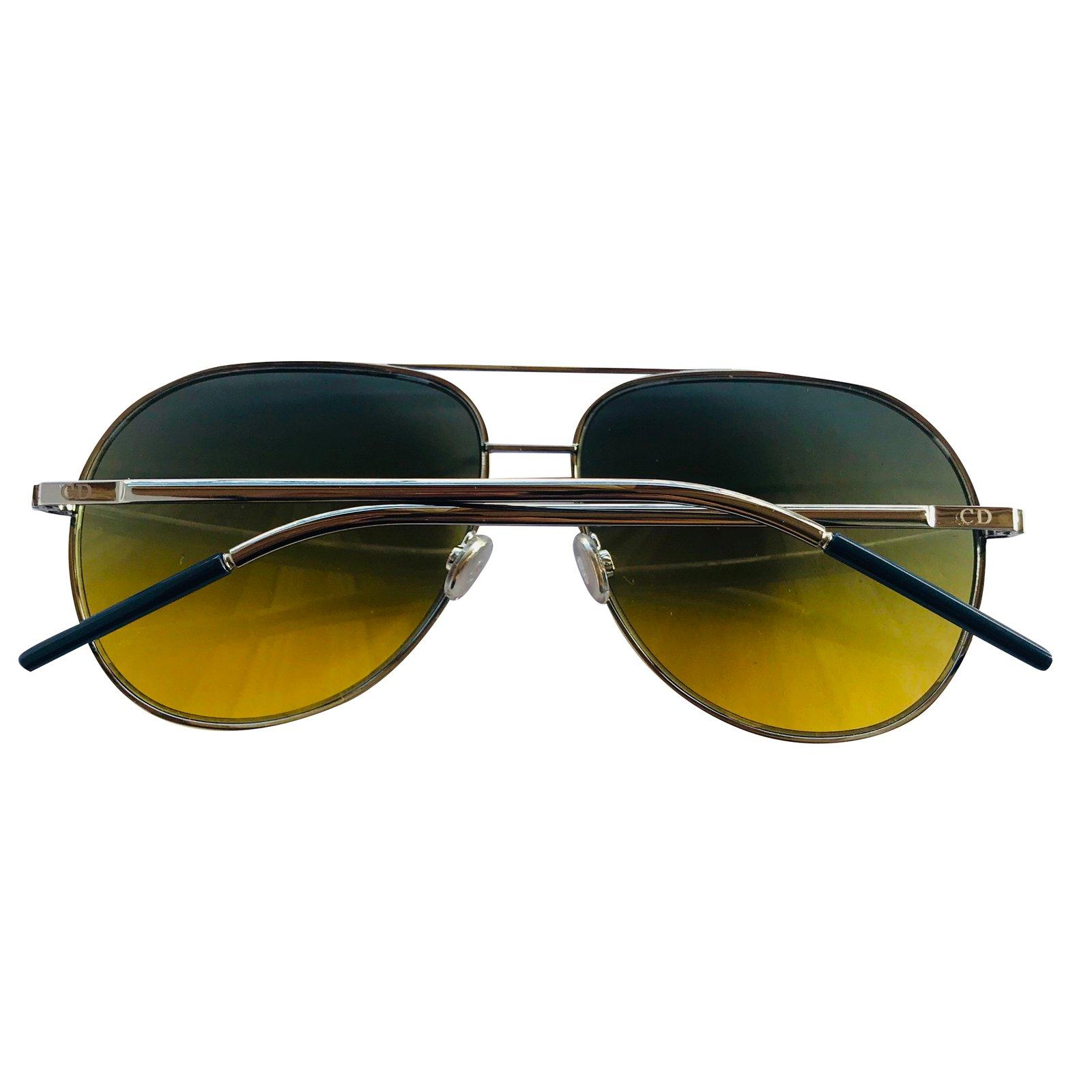 ff9dde4d0bb Christian Dior Dior sunglasses men Sunglasses Metal Silvery ref.48780 -  Joli Closet