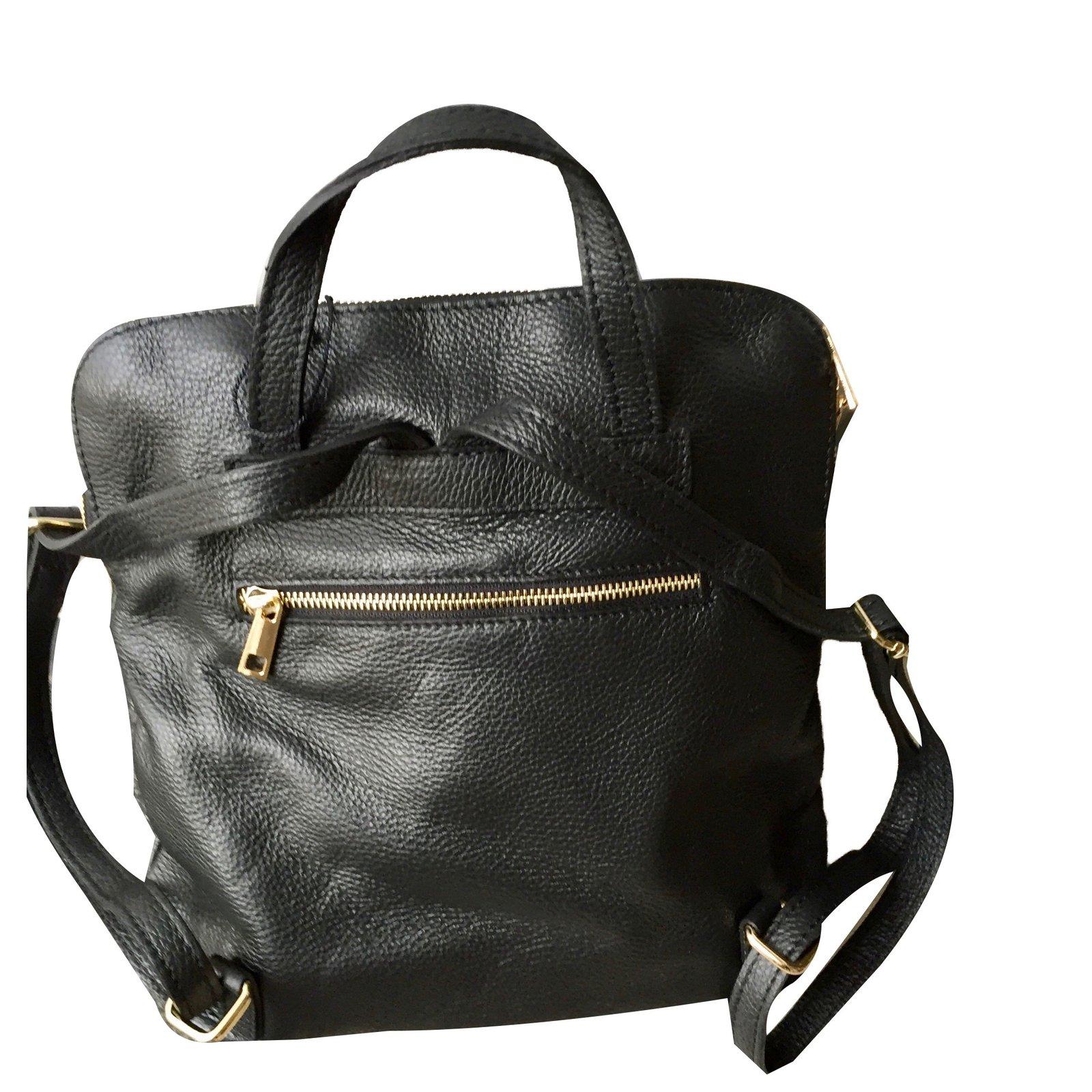 sacs dos autre marque sacs dos manoukian cuir noir joli closet. Black Bedroom Furniture Sets. Home Design Ideas