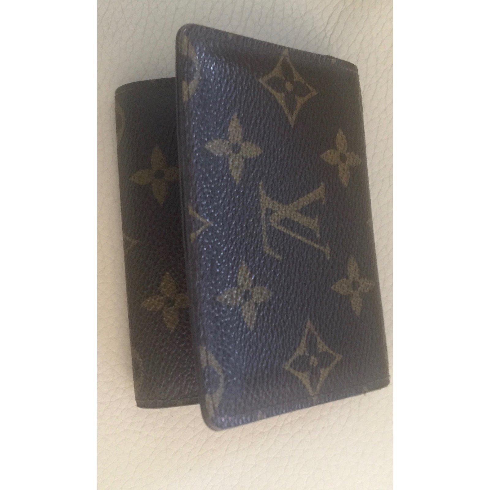 dcf0b4cc2e01 Portefeuilles Louis Vuitton Porte cartes Toile Marron foncé ref.48952 -  Joli Closet