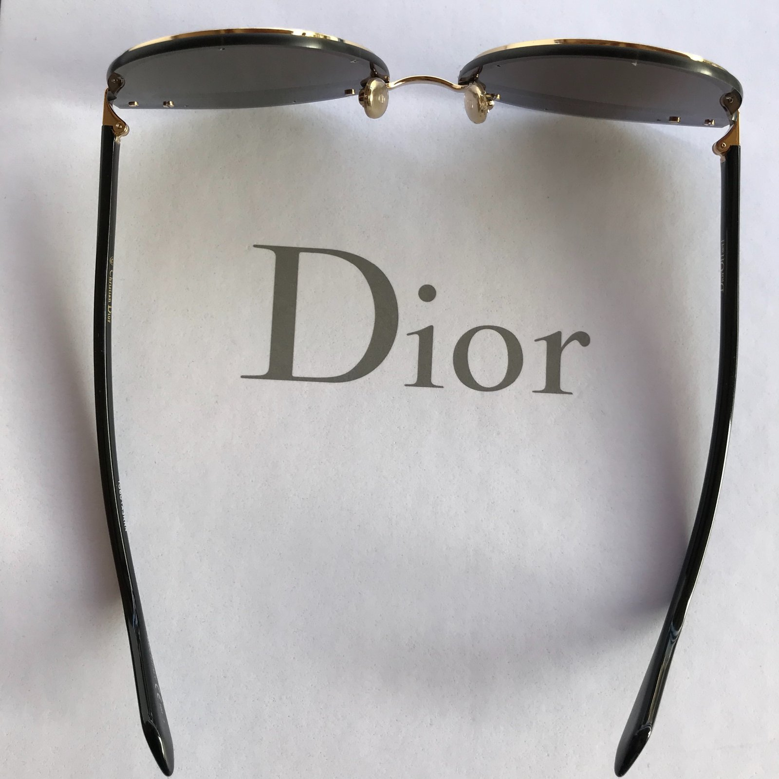 0d45c2cbfc81a Facebook · Pin This. Dior Dior offset sunglasses Sunglasses Metal Black ...