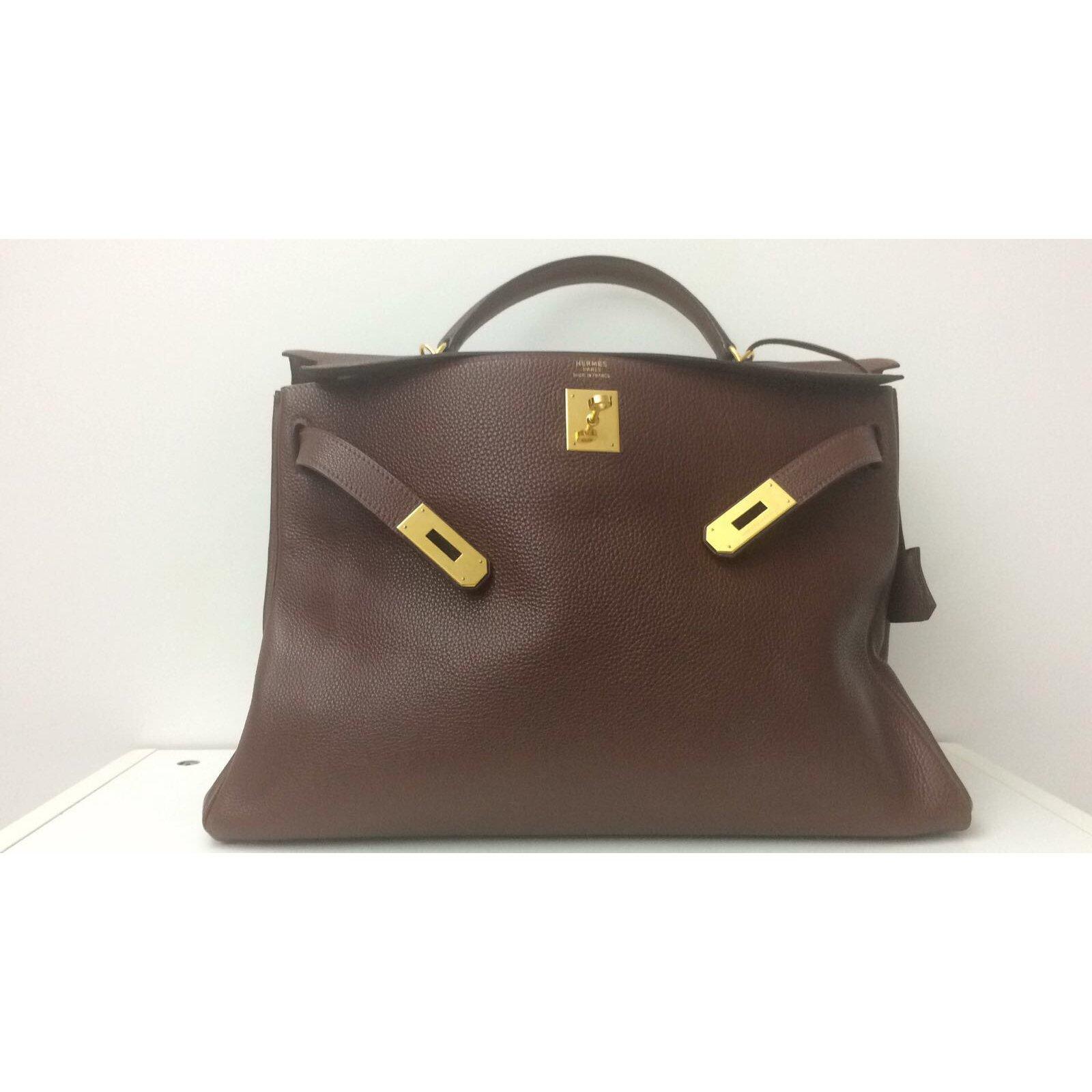 02888d676f Sacs à main Hermès Superbe Hermès Kelly 40 en cuir d'Ardenne couleur Havane Cuir  Marron ref.49002 - Joli Closet