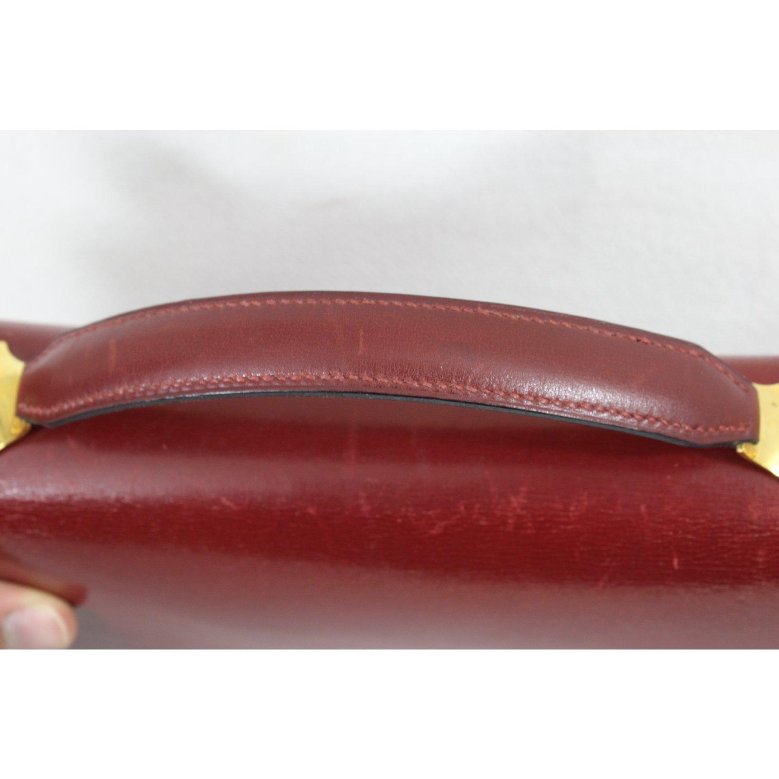 31262d29de70 Facebook · Pin This. Hermès Vintage Clutch Handbags Leather Dark red ref .49060