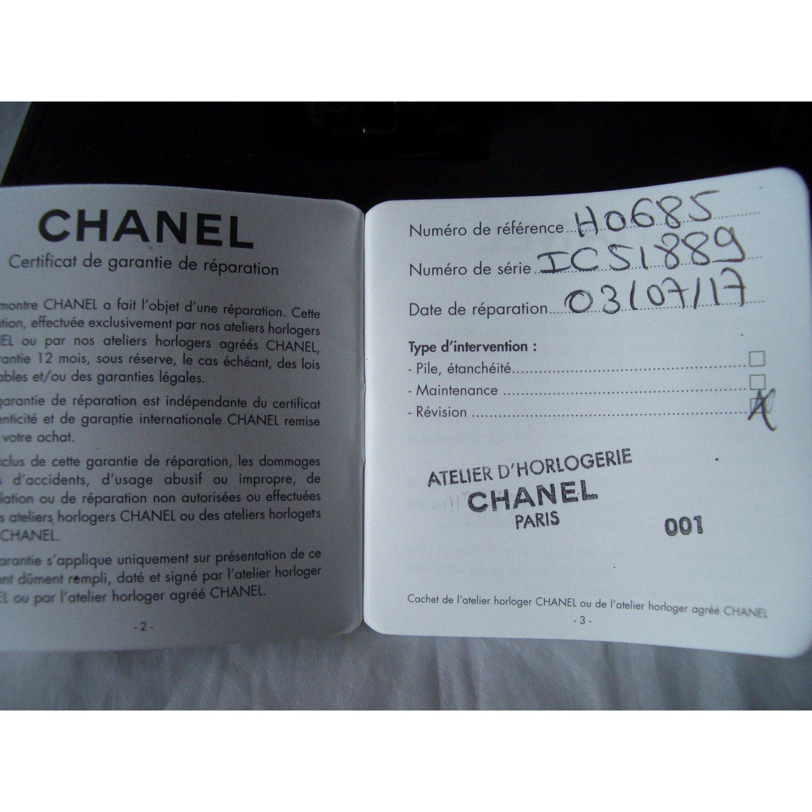 Chanel Fine watches Fine watches Other Black ref.49122 - Joli Closet dec997f94037