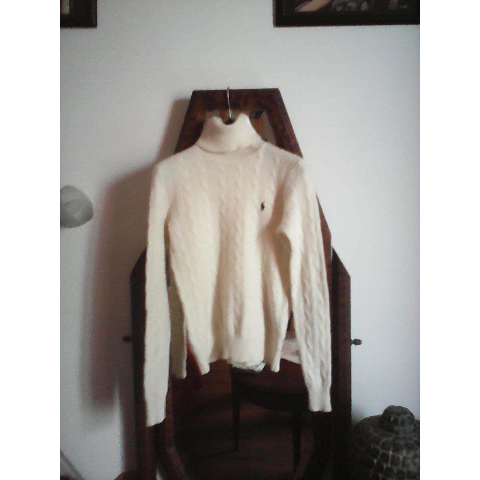pull col roulé blanc ralph lauren femme