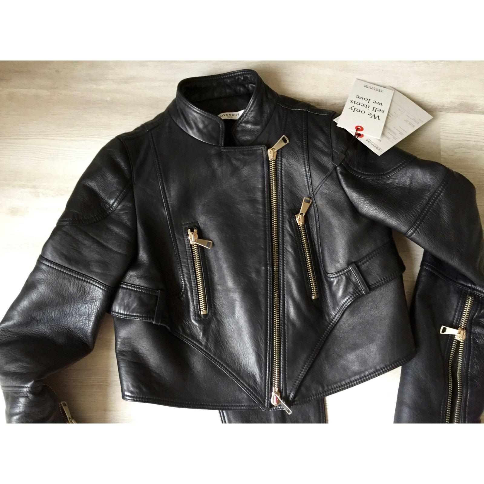 626296daadd5b Givenchy Biker jackets Biker jackets Leather Black ref.49233 - Joli Closet