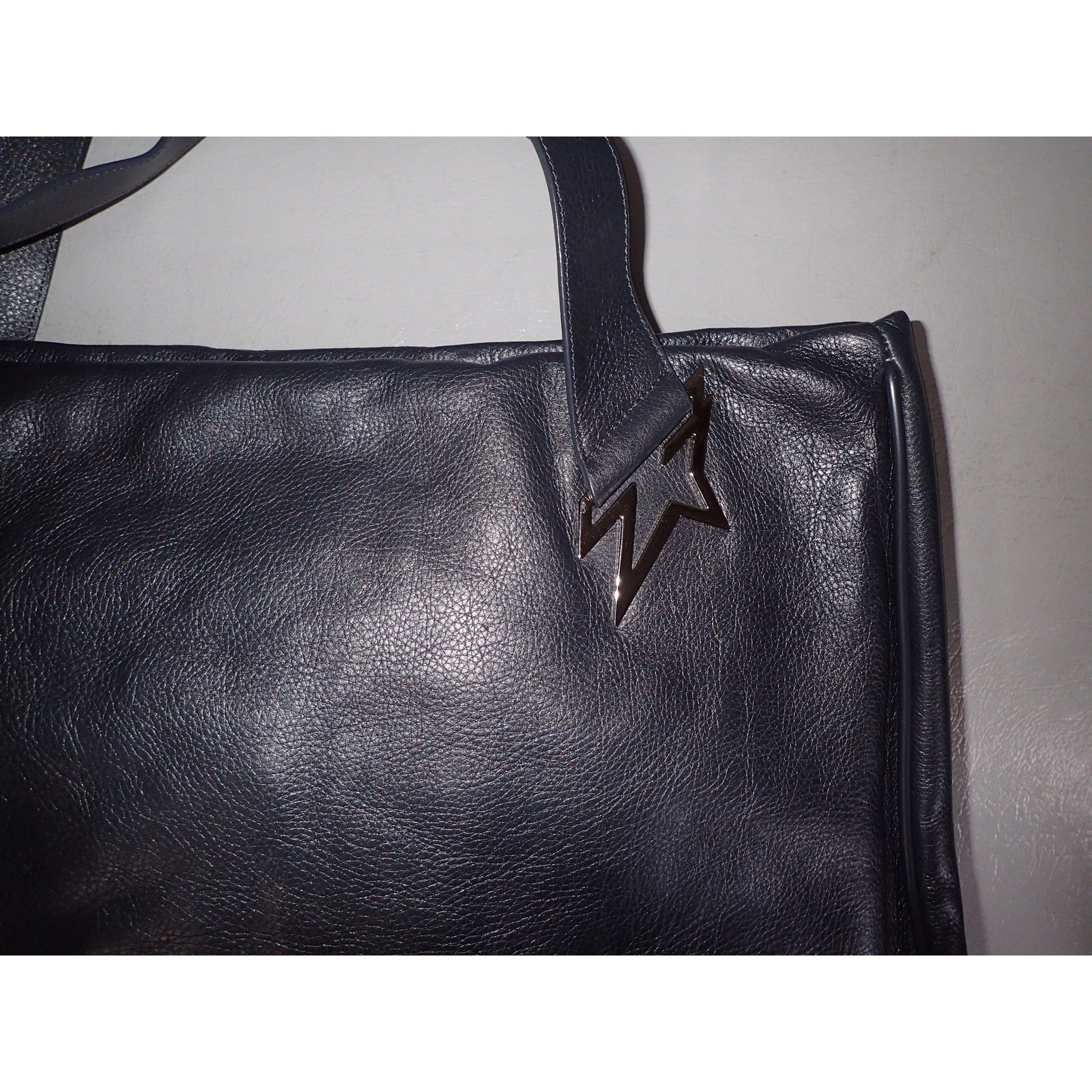 Thierry Mugler Travel Bag Leather Grey Ref 49341 Joli Closet