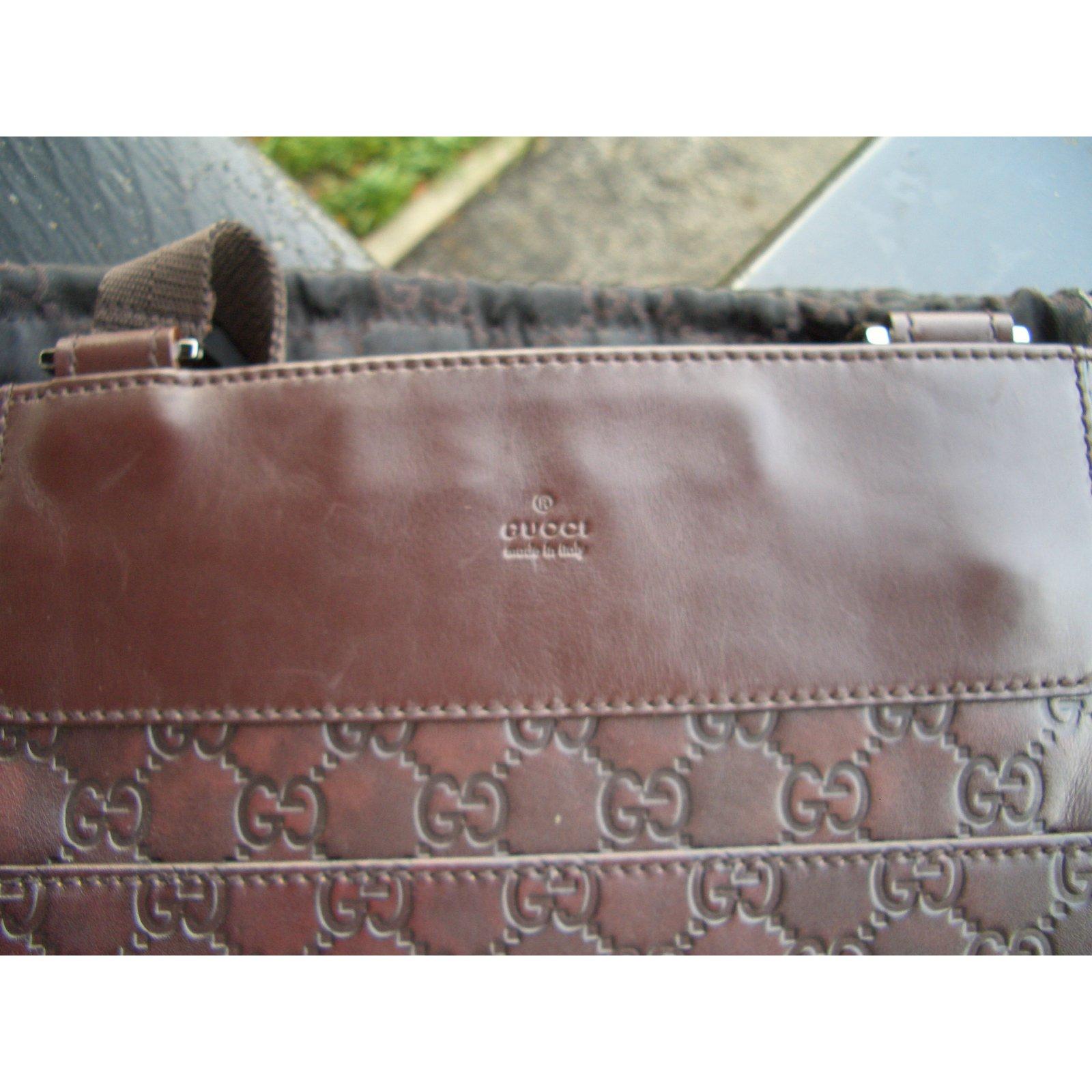 fc58b7814 Gucci Crossbody bag Clutch bags Leather Dark brown ref.49694 - Joli Closet