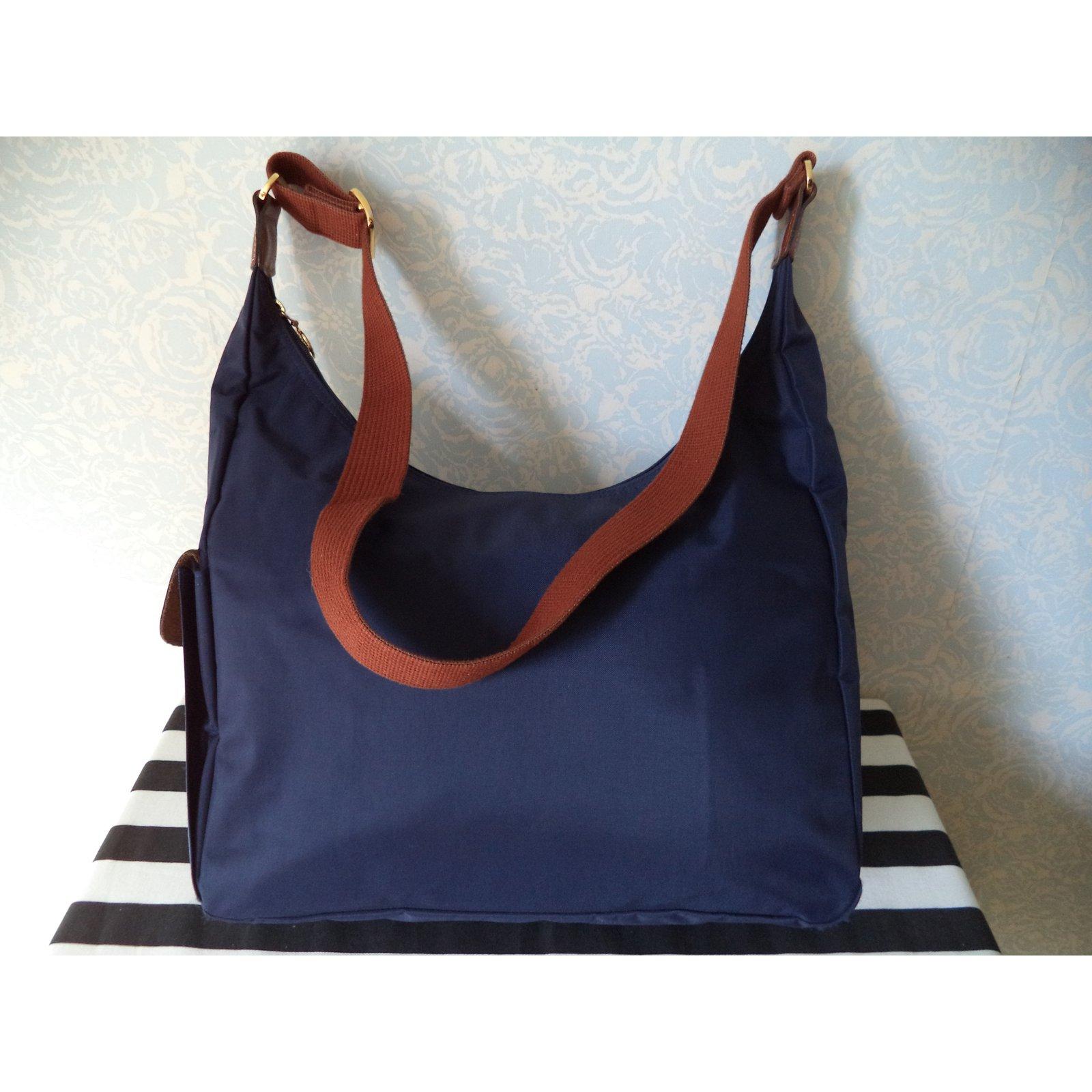 f2368da9eefa Longchamp Bags Briefcases Bags Briefcases Cloth Navy blue ref.49761 - Joli  Closet