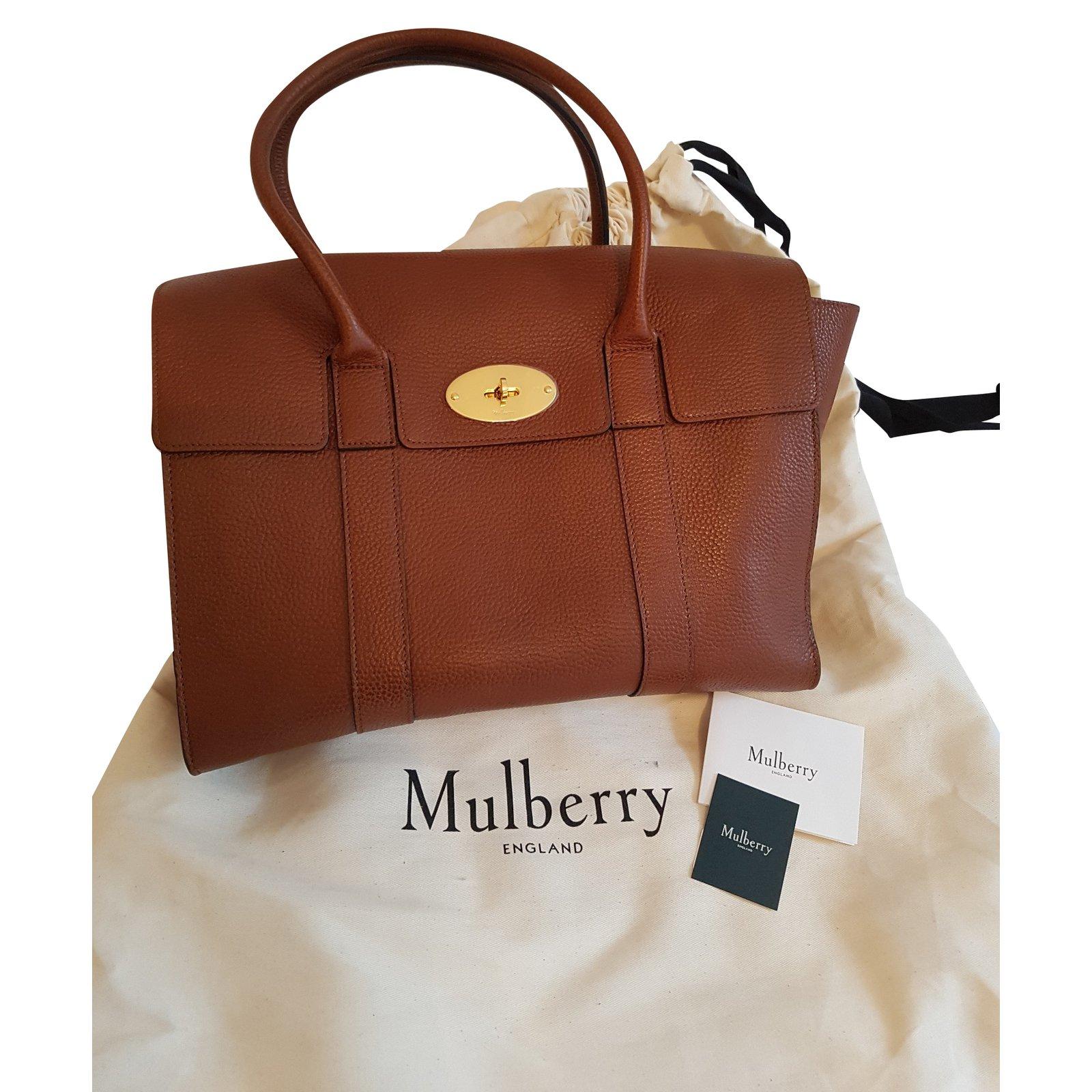 dfe9af844194 Mulberry Bayswater Handbags Leather Brown ref.50187 - Joli .