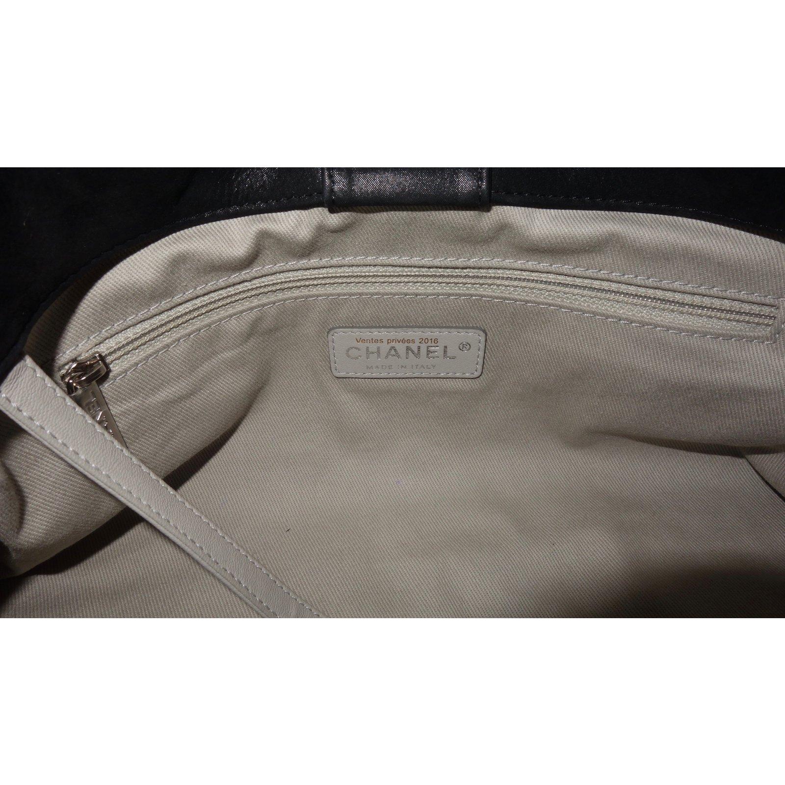 Sacs à main Chanel SAC CHANEL SHOPPING CUIR NOIR Cuir Noir ref.50597 - Joli  Closet 8faae4dfbd8