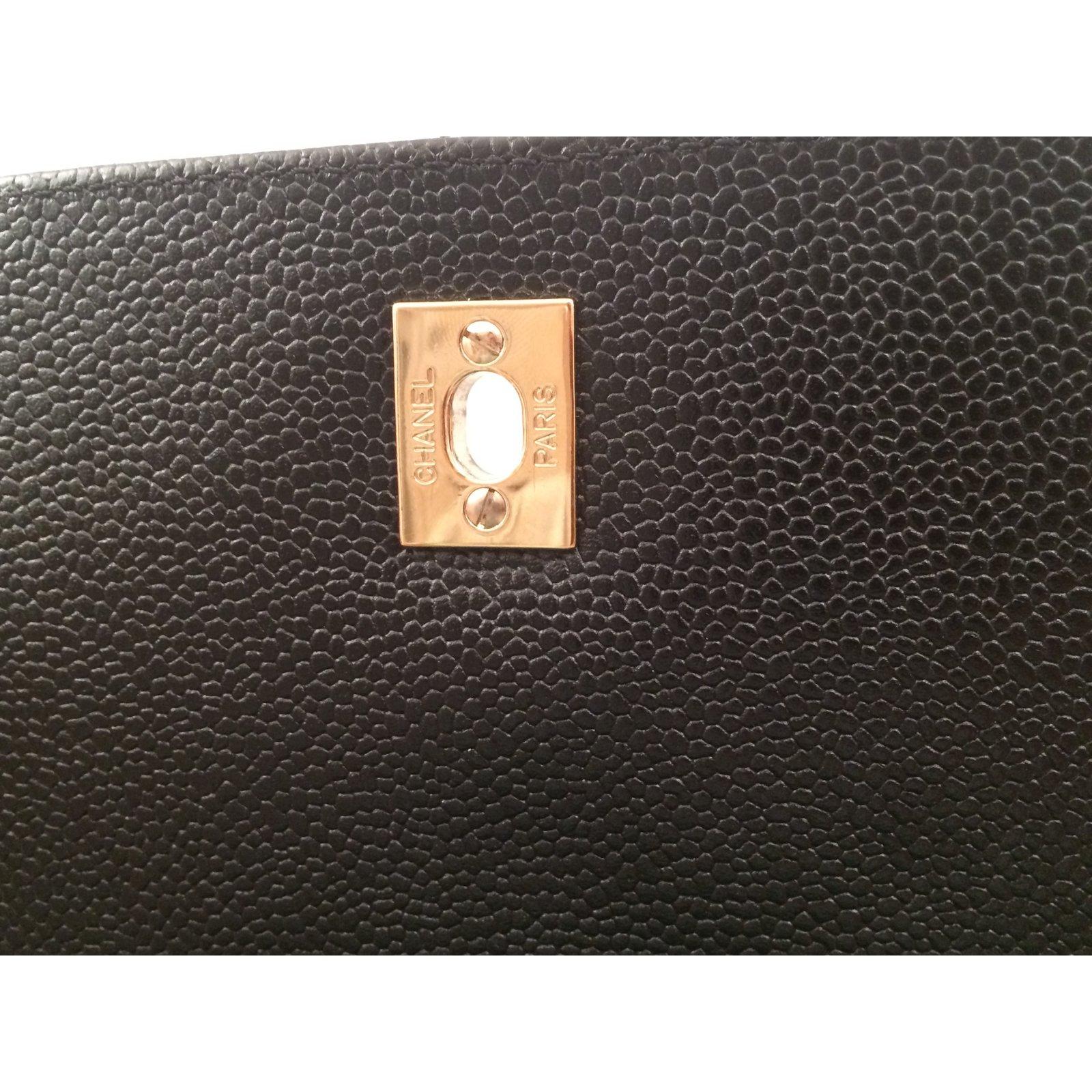 949f7067af Sacs à main Chanel Sac Chanel Mademoiselle à rabat avec Poignée Cuir  d'agneau Noir ref.50627 - Joli Closet