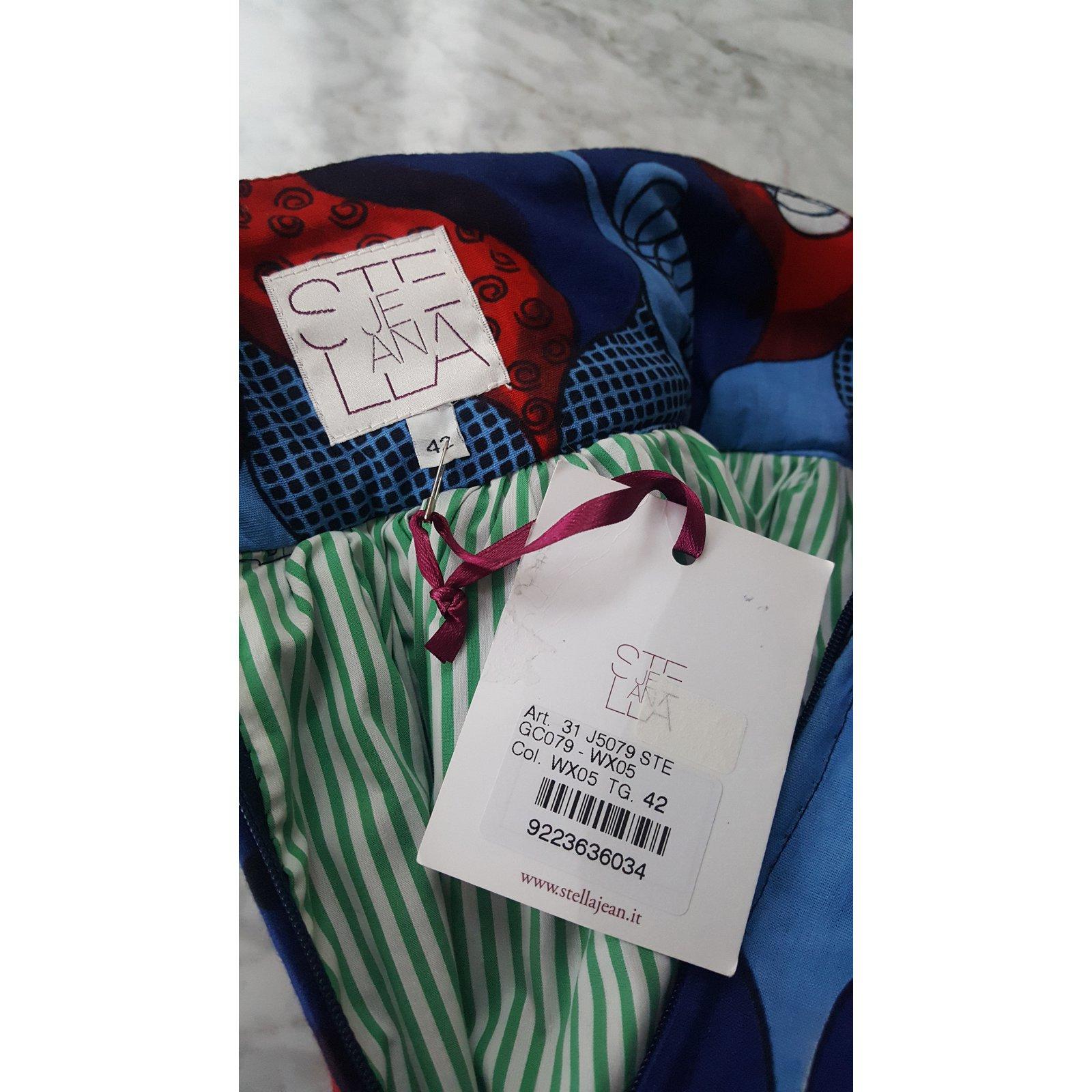 75d6fcd06 Stella Jean STELLA JEAN Blue & Red Cotton Print Skirt 42 IT Skirts Cotton  White,Red,Blue,Navy blue ref.50702 - Joli Closet