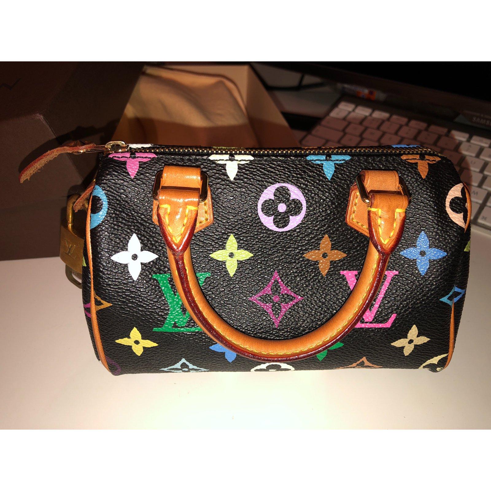 80ed0f6205bb Louis Vuitton Louis Vuitton Mini Speedy HL Black Multicolour Handbags Cloth  Multiple colors ref.51060 - Joli Closet