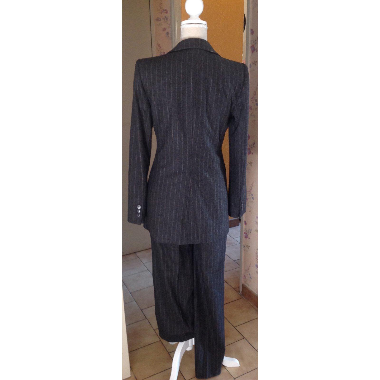 1r7q1 Cachemire Tailleur Costume Armani Borsalino Pantalon Rayè Giorgio JF1cTlK3