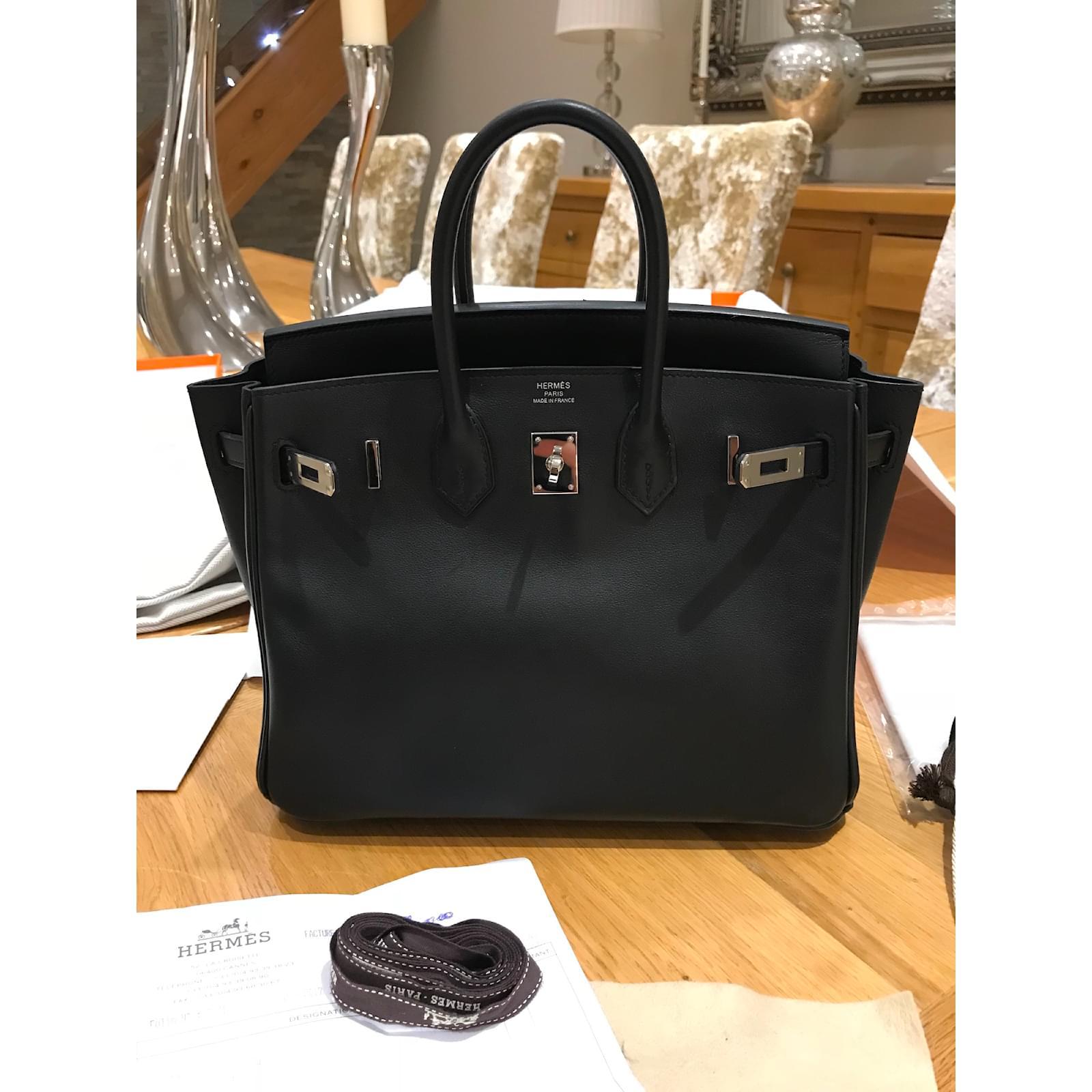 a652aa04ea ... new style hermès hermes birkin 25 handbags leather black ref.51521 joli  closet 839e3 7dec5