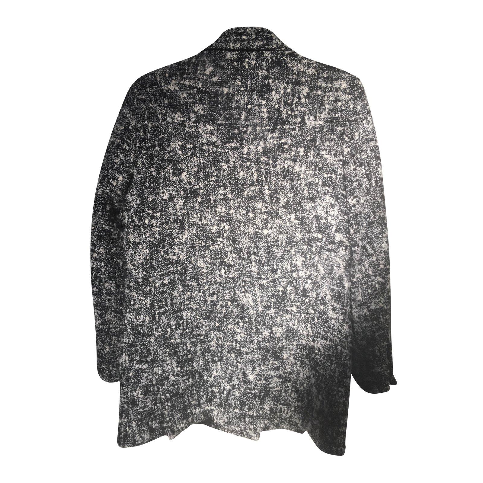 Manteau tweed gris