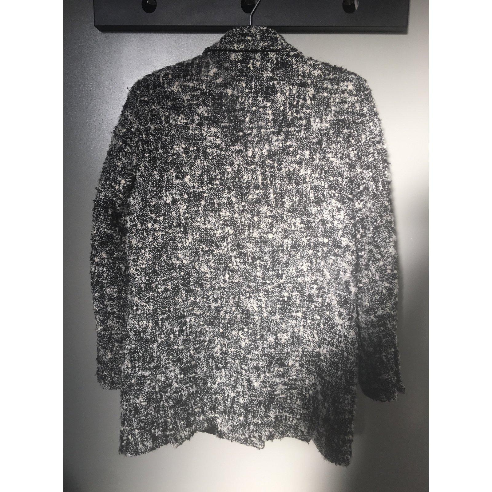 51579 Joli Kooples blanc Tweed Noir The Manteaux Ref gris x07v4Tq